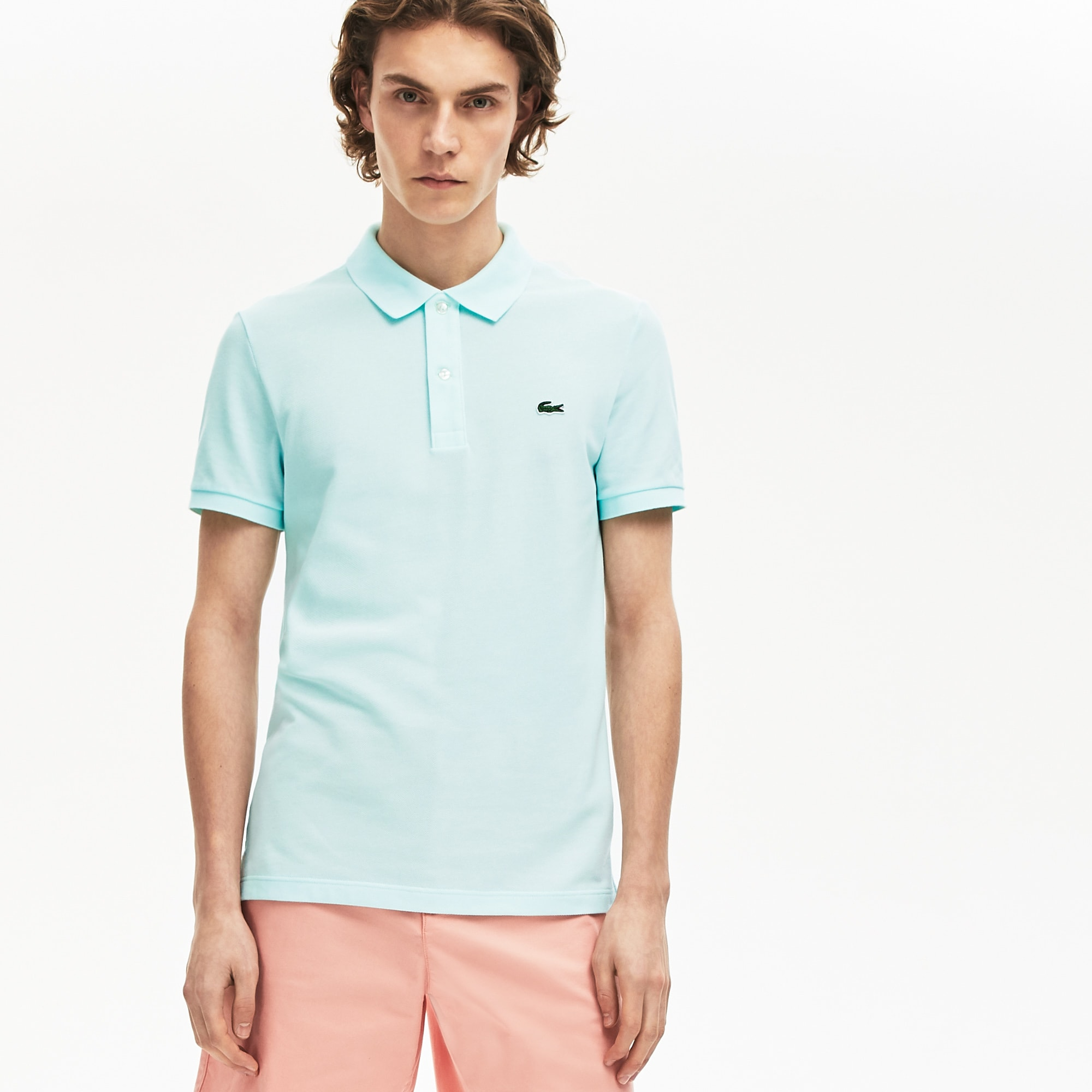 Lacoste Men's Petit Piqu� Slim Fit Polo Shirt : Turquoise