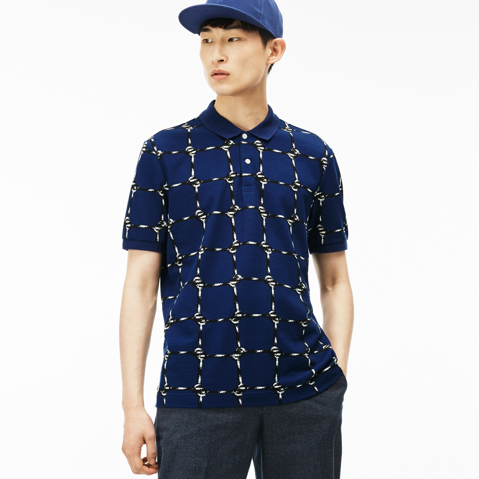 Men's L!VE Rope Graphic Print Mini Piqué Polo Shirt