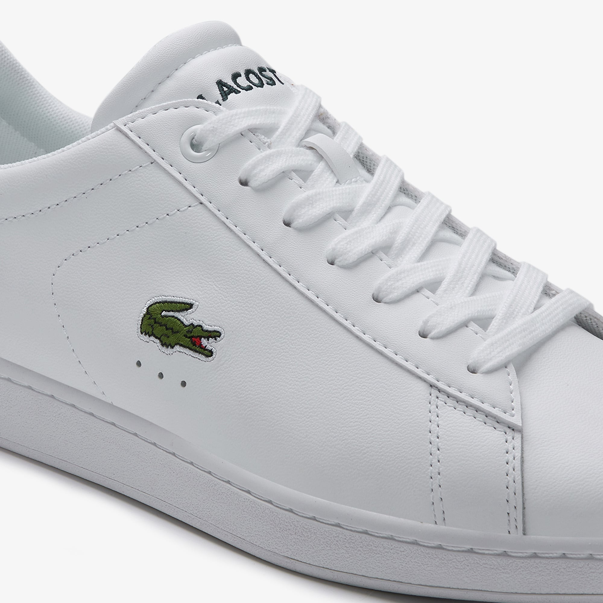 Mens Lacoste Carnaby Evo SPW BLK Leather Trainers SPM10002024