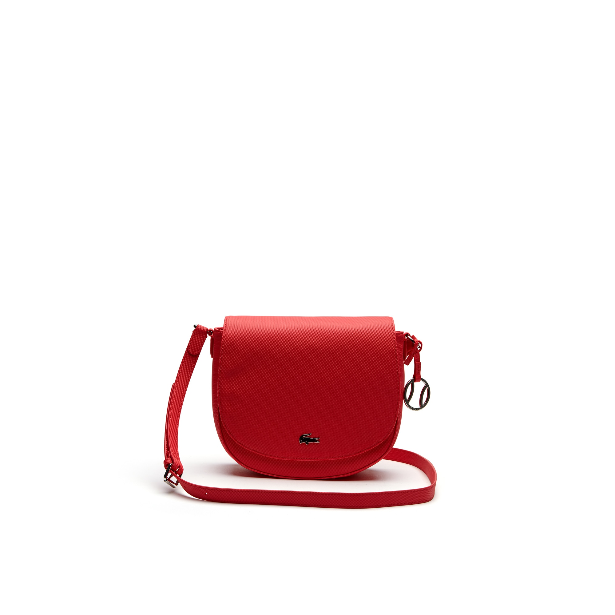 Women's Daily Classic Fine Piqué Grains Flap Crossover Bag