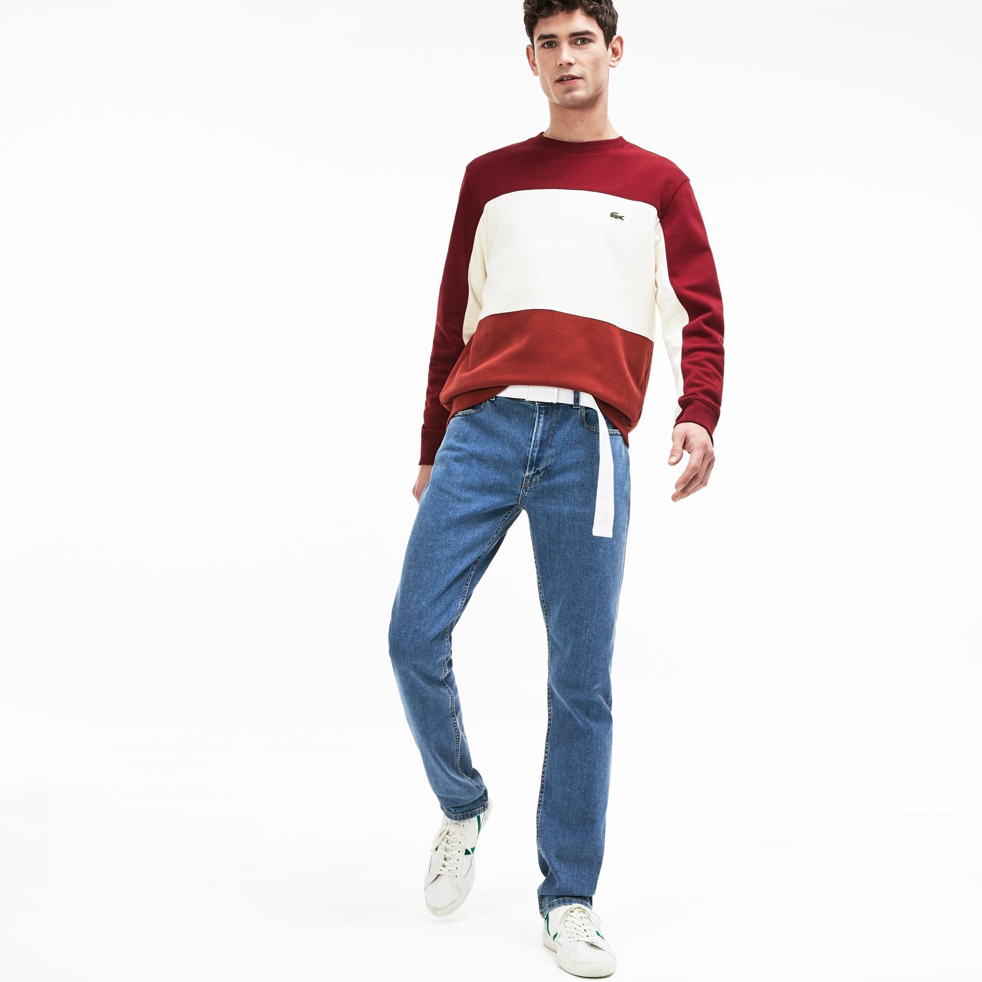 Lacoste Jeans Men's Slim Fit Stretch Denim 5-Pocket Jeans