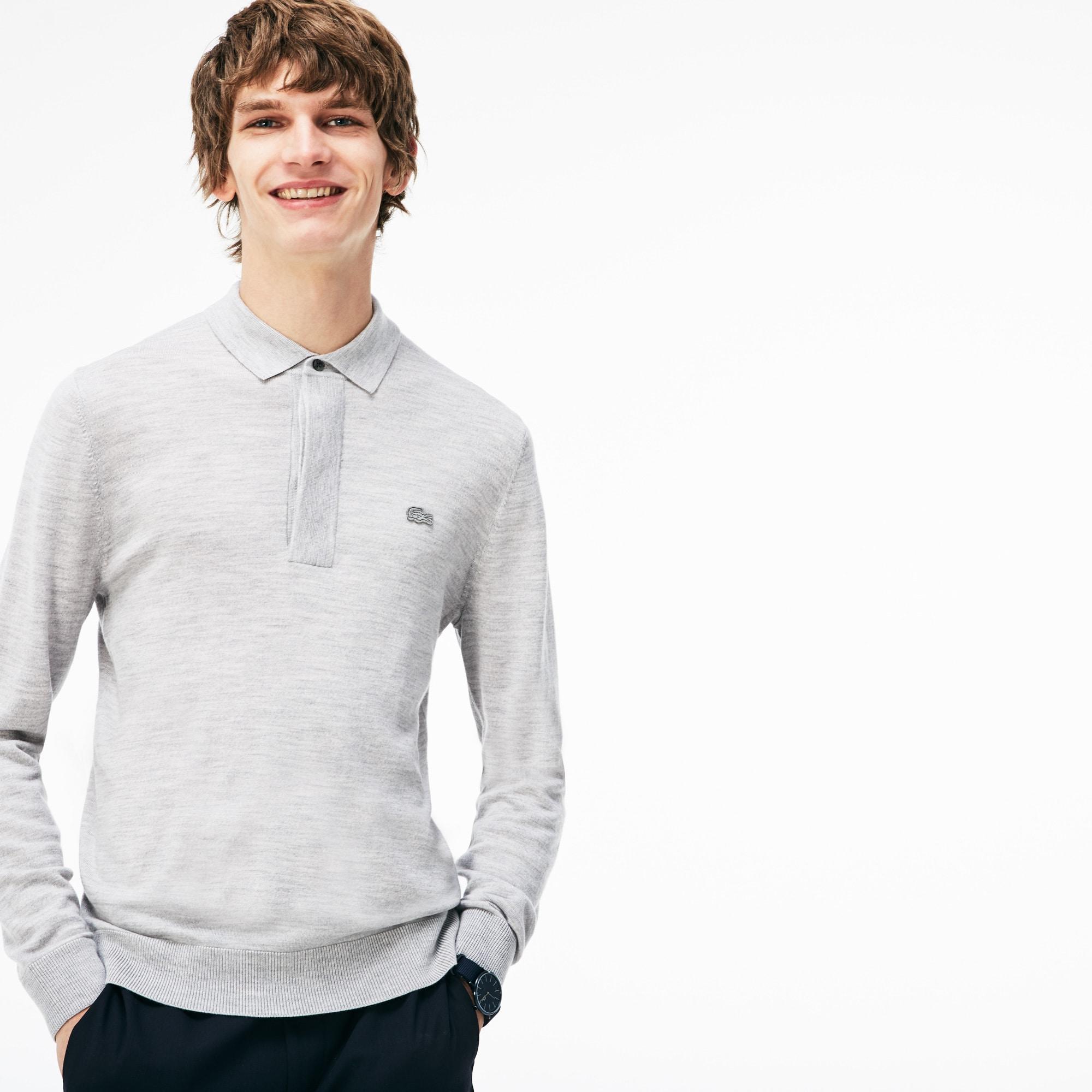 Lacoste Mens Wool Jersey Sweater
