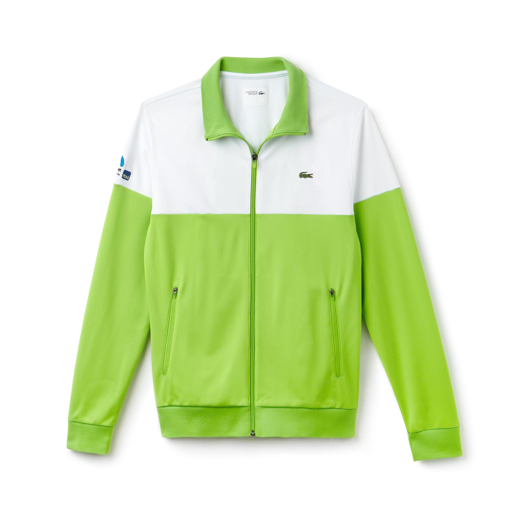 Men's SPORT Miami Open Colorblock Zip Tech Piqué Tennis Sweatshirt
