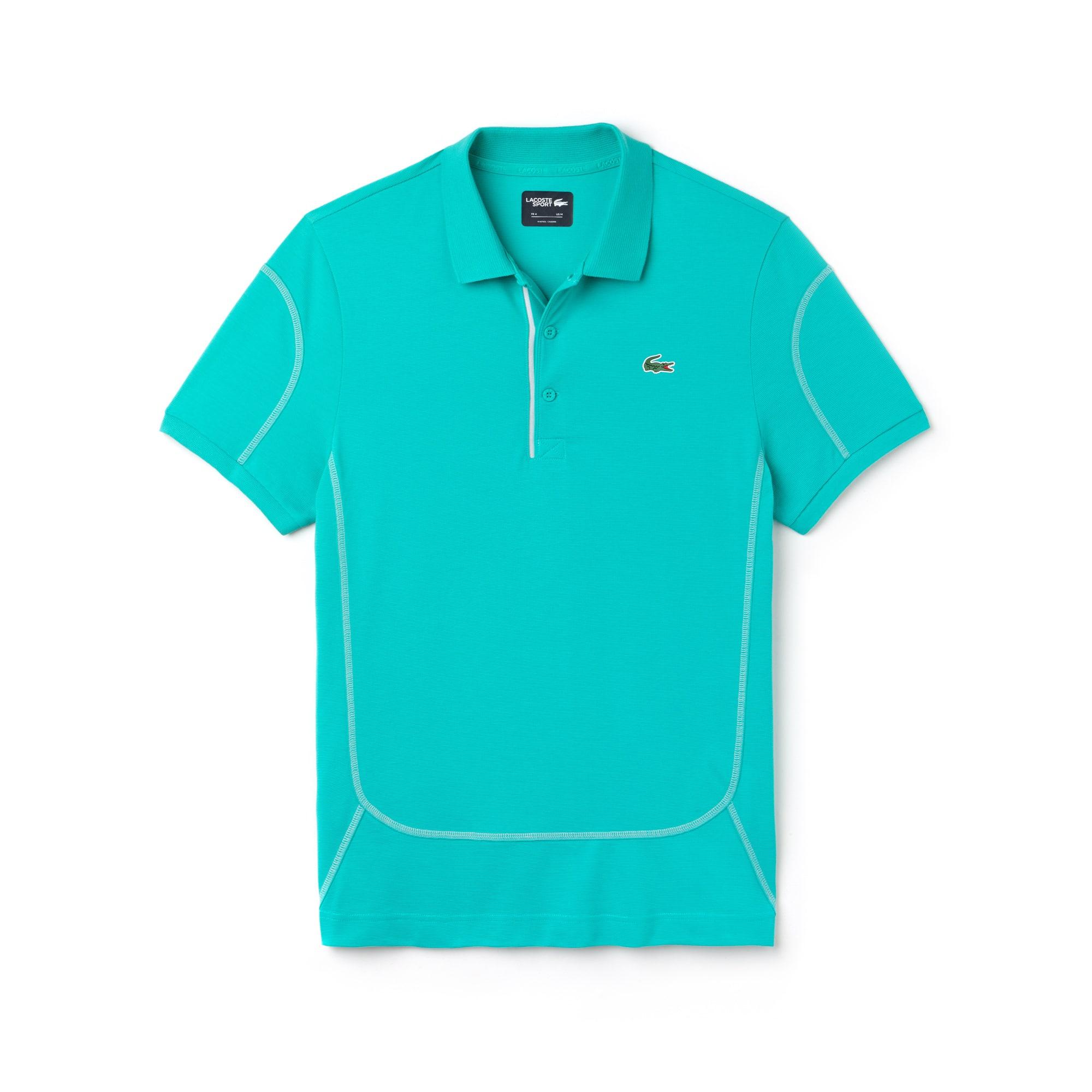 라코스테 Lacoste Mens SPORT Contrast Stitching Light Cotton Tennis Polo,papeete/armour