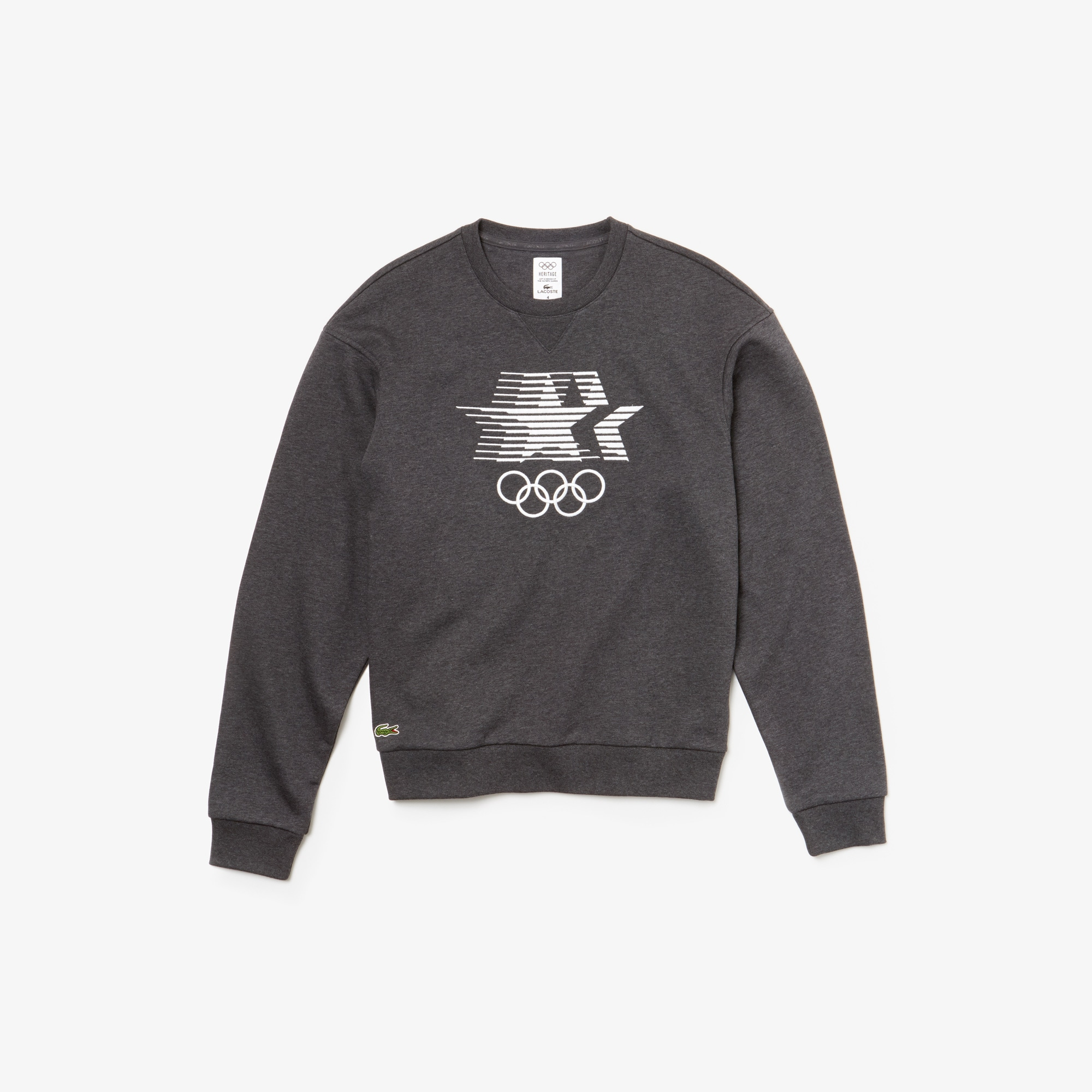 Olympic Heritage Lacoste Collection Cotton By Men's Sweatshirt WBeCoQrdEx