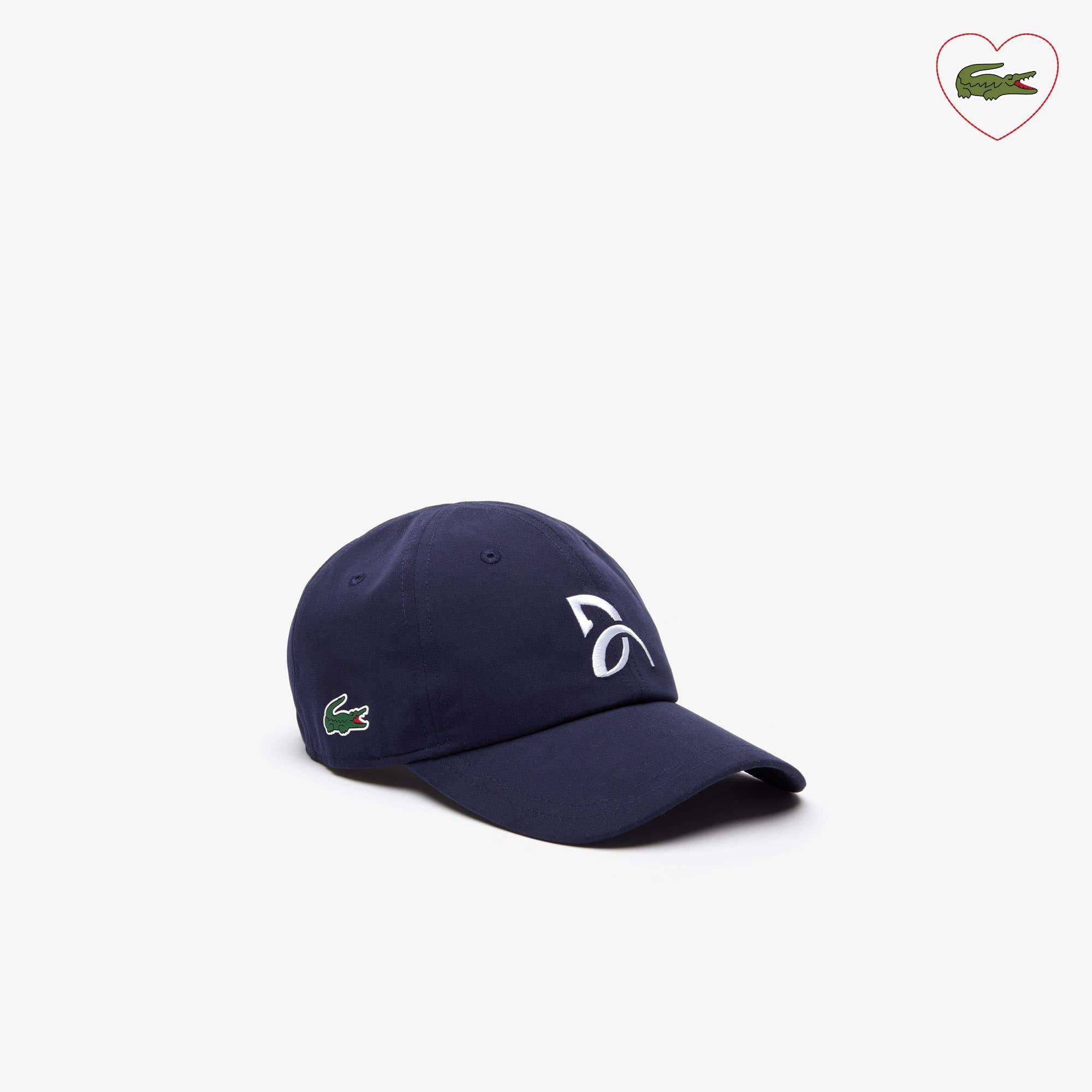 라코스테 Lacoste Mens Sport Tennis Microfiber Cap - Support With Style Collection for Novak Djokovic,navy blue