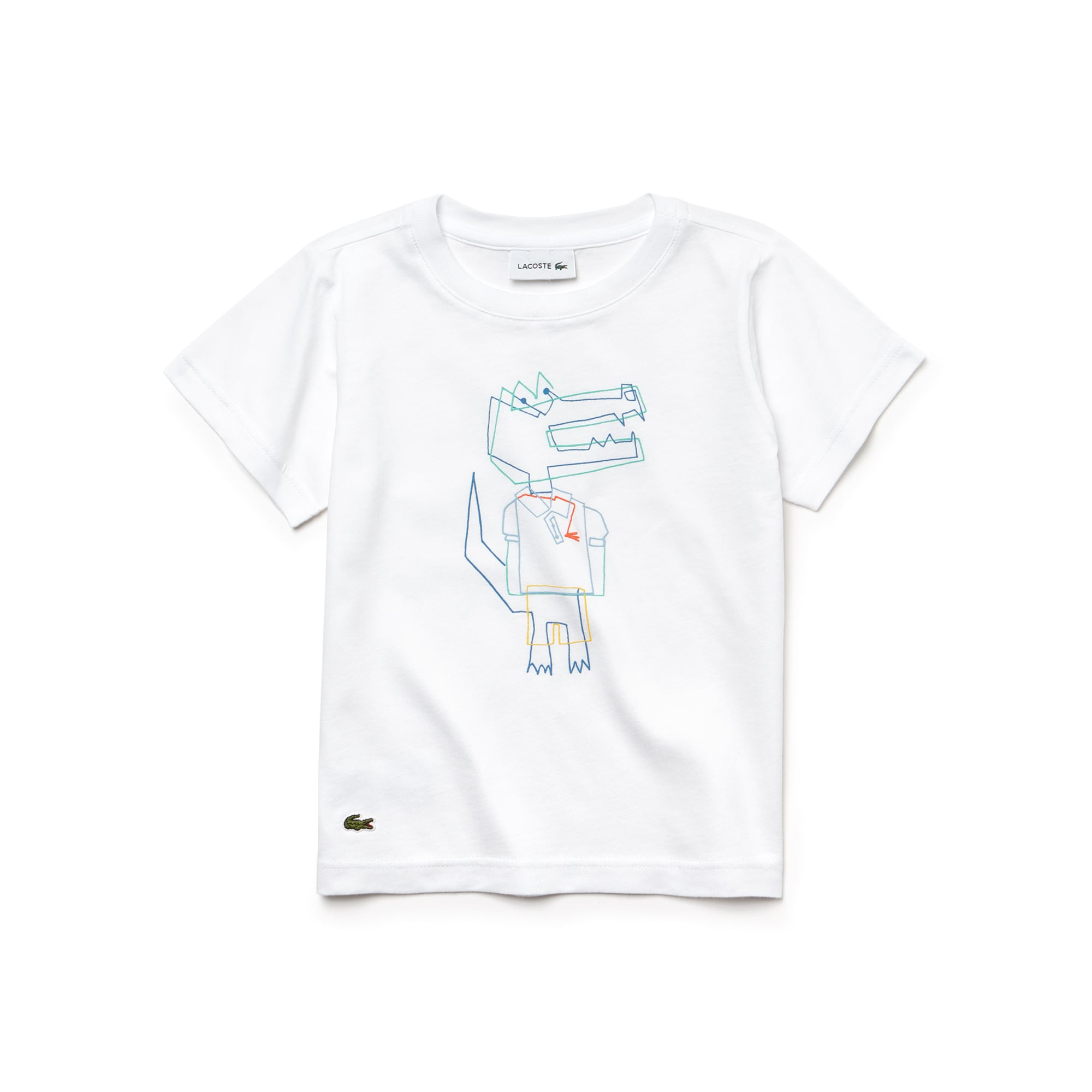Boys' Crew Neck Crocodile Print Jersey T-shirt