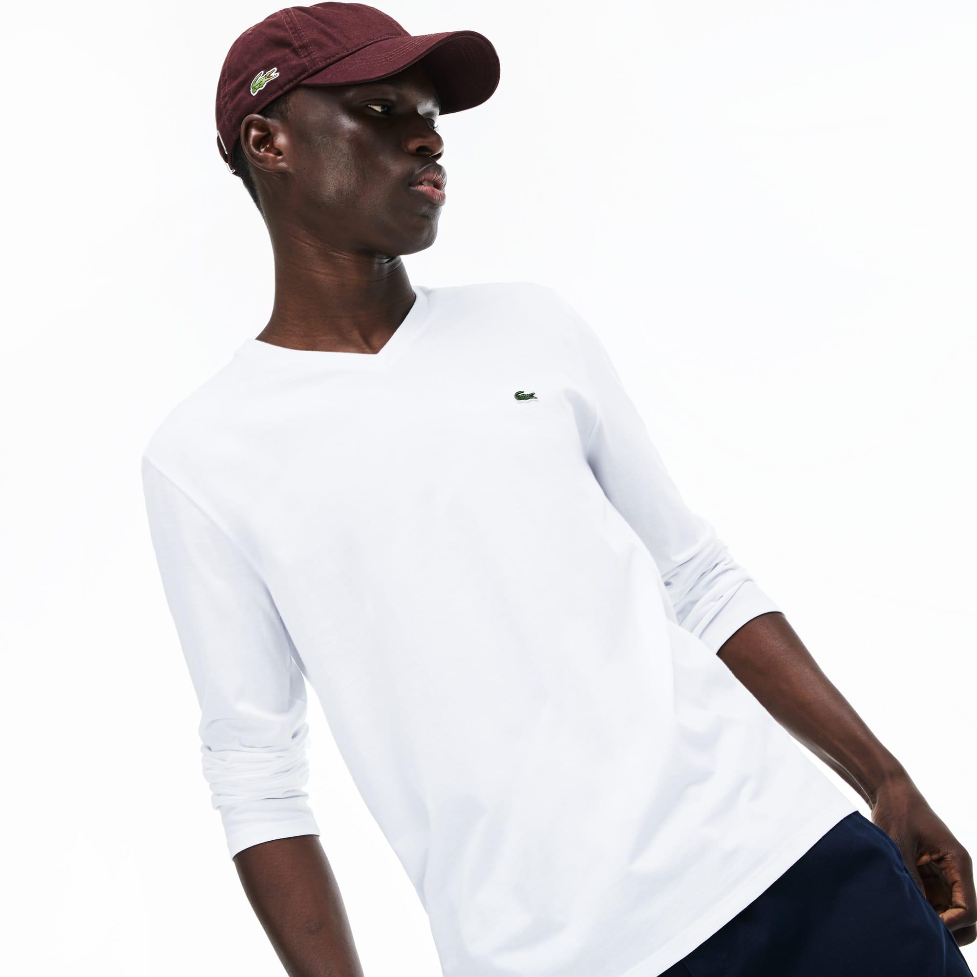 ca1bec4b56 Men's V-neck Soft Cotton T-shirt