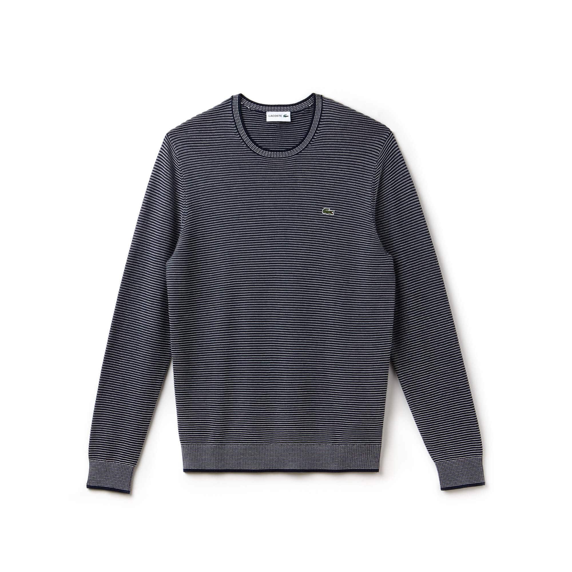 Men's Pinstriped Ottoman Sweater