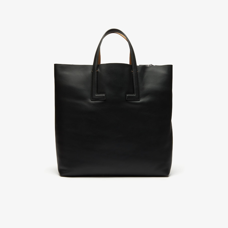 Women's Reversible Leather Tote Bag with Detachable Strap