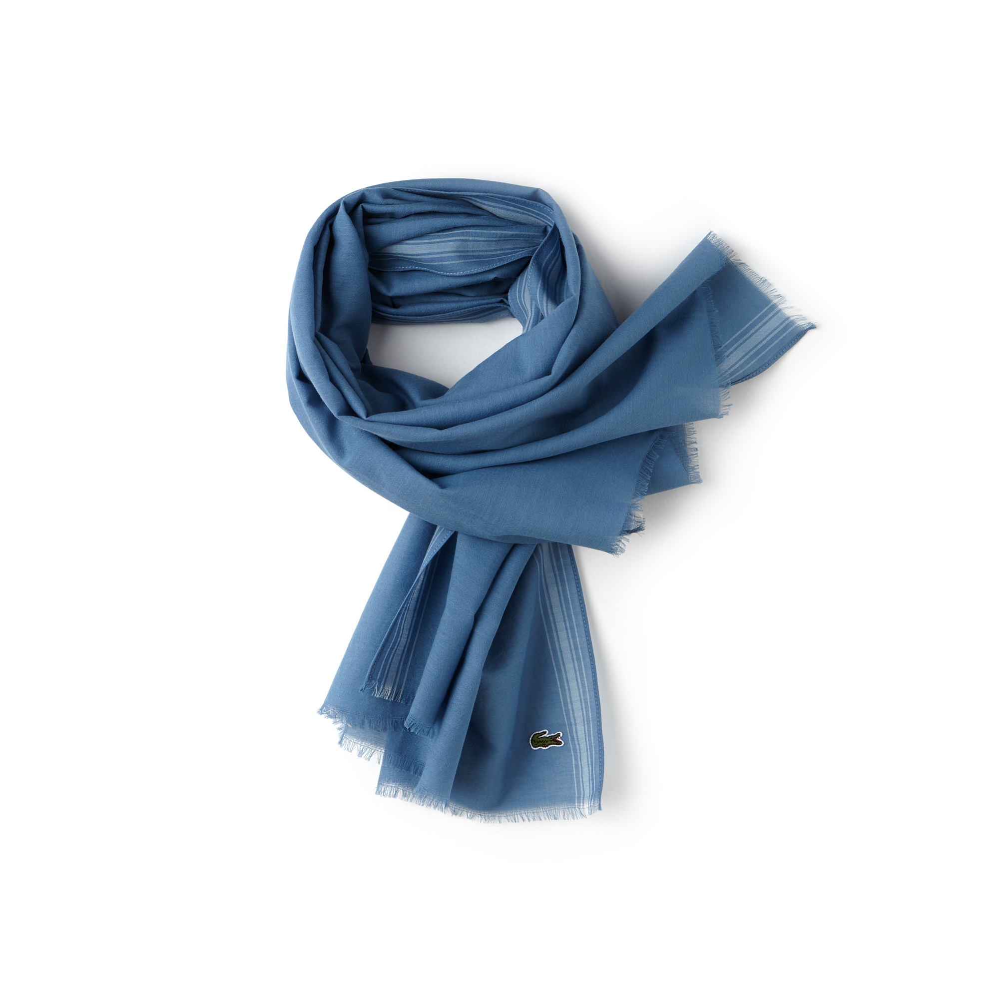 Men's Striped Bands Cotton Voile Scarf