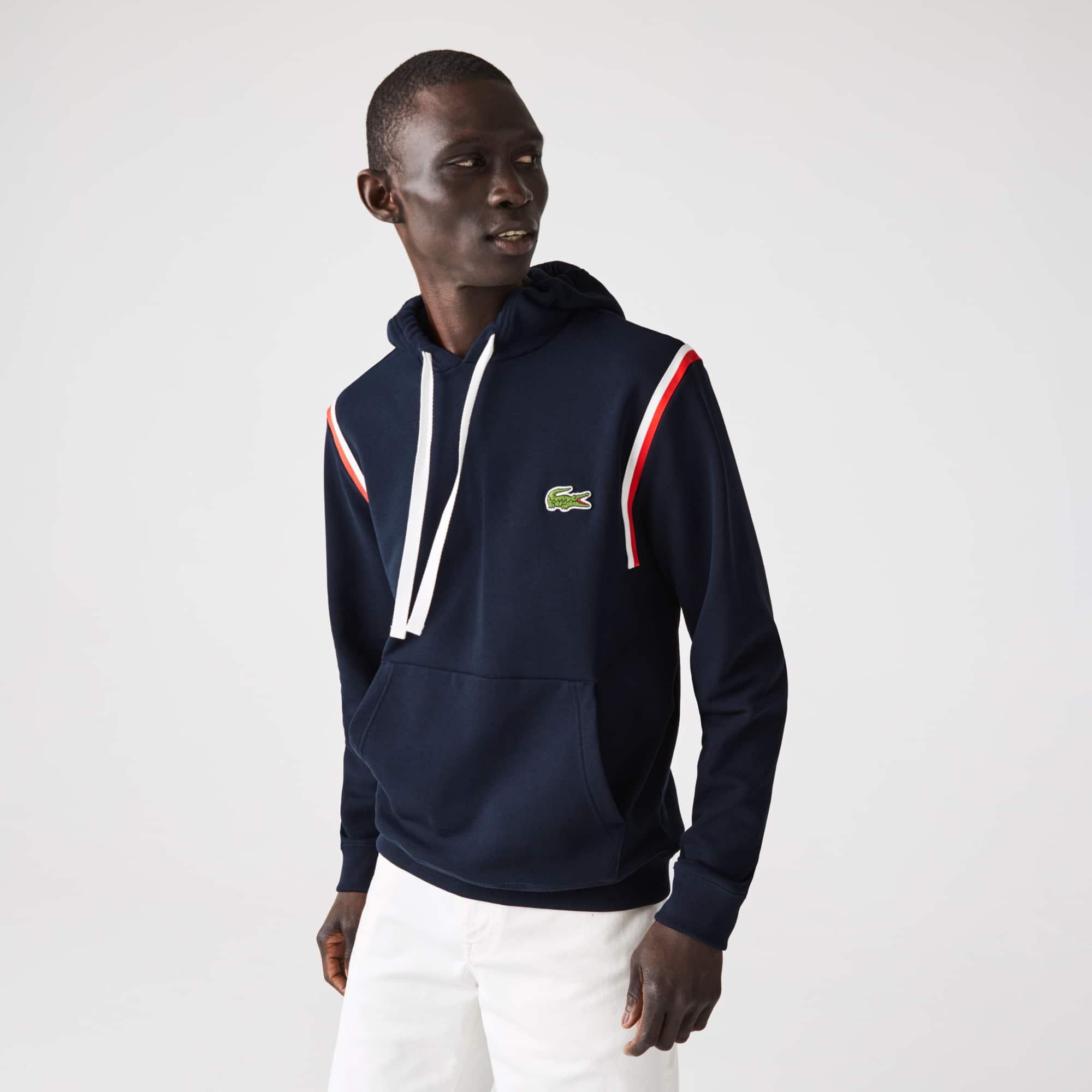 라코스테 맨 '메이드 인 프랑스' 오가닉 코튼 후드티 Lacoste Men's Made In France Organic Cotton Fleece Hoodie