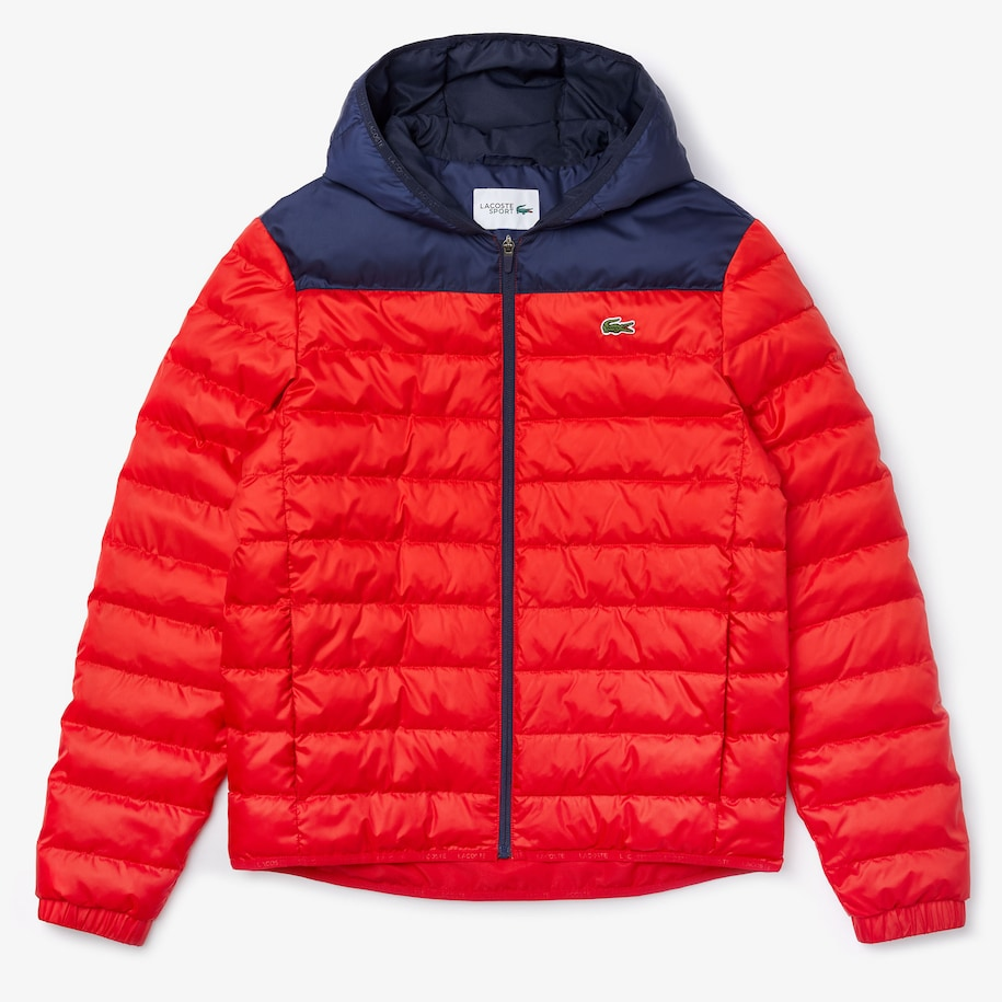 Men's Lacoste SPORT Hooded Water-Resistant Quilted Jacket