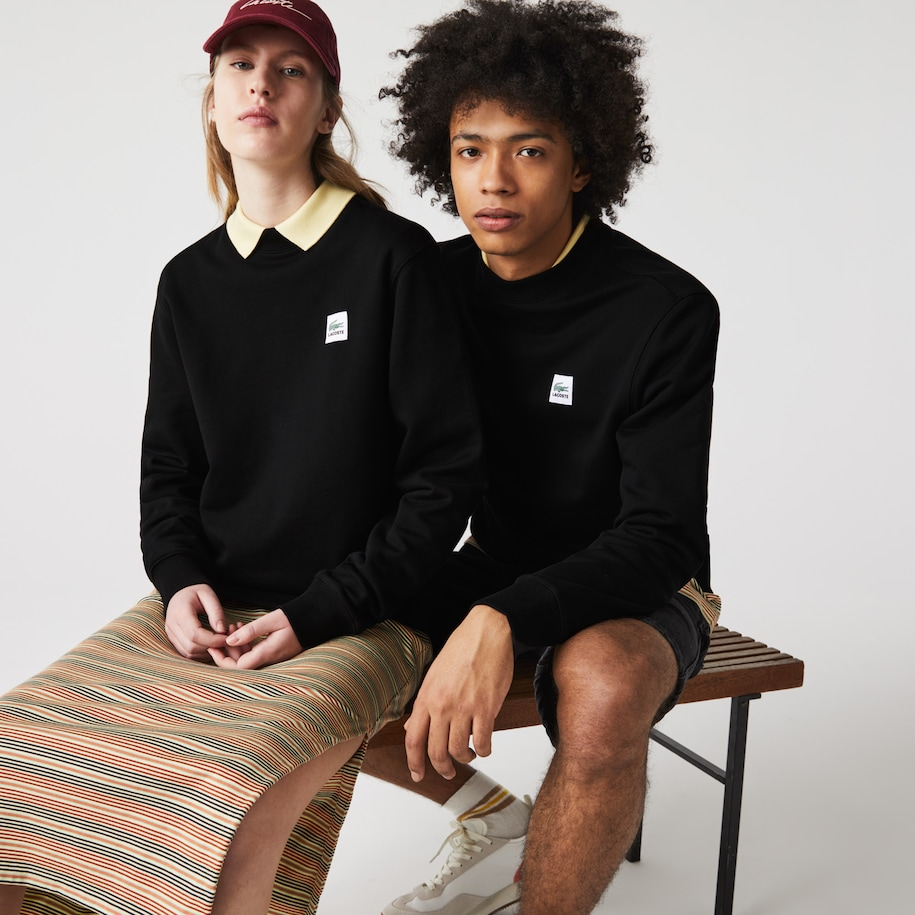 Unisex Lacoste LIVE Patch Cotton Fleece Sweatshirt