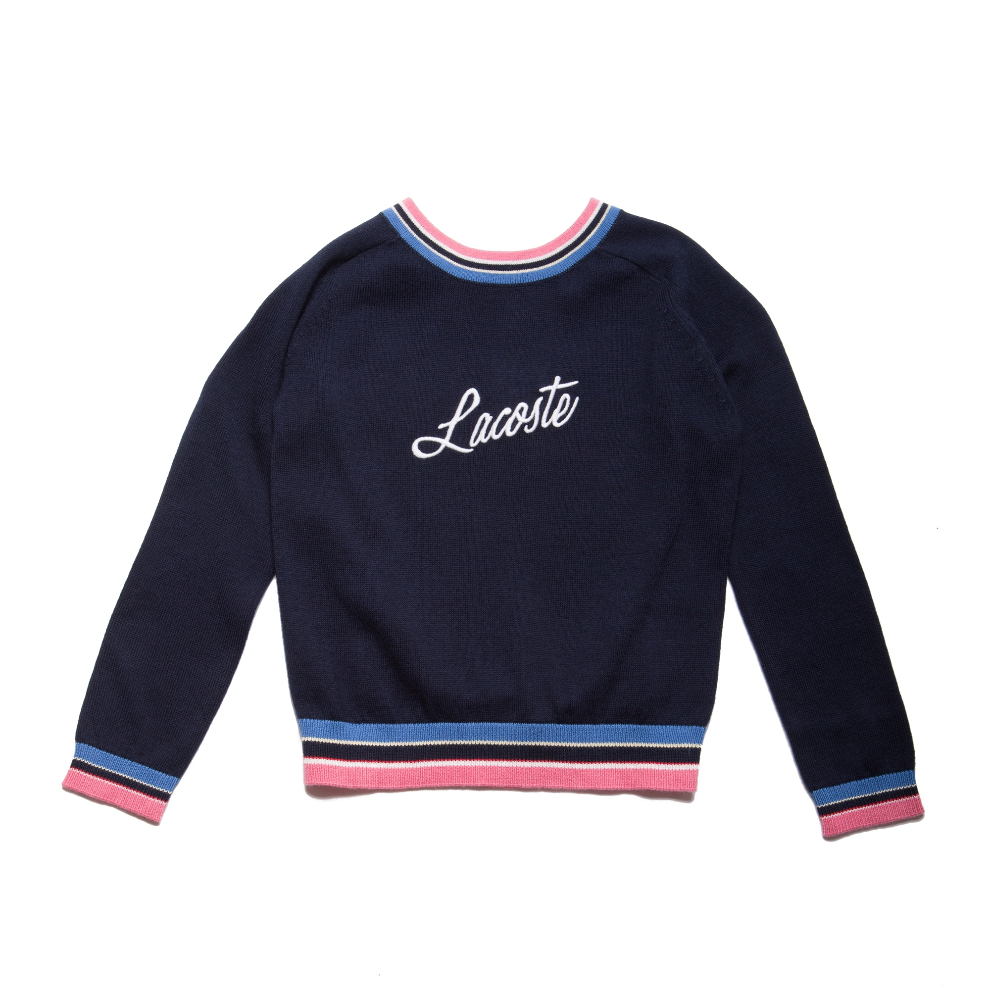 Girls' Crew Neck  Embroidery Jersey Sweater