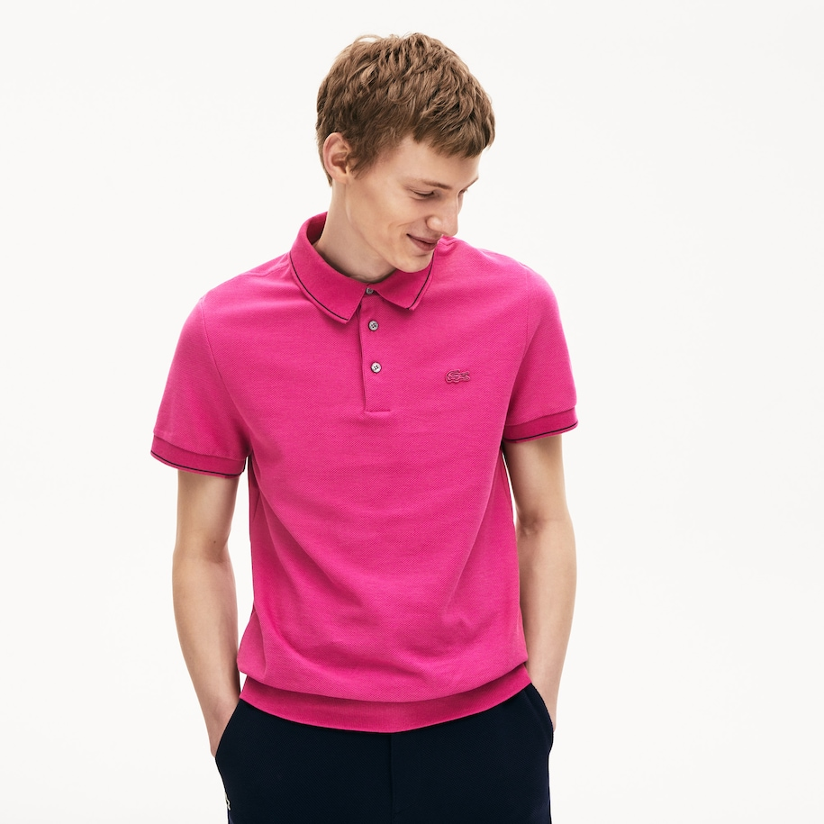 Men's Cotton-Silk Piqué Polo Shirt