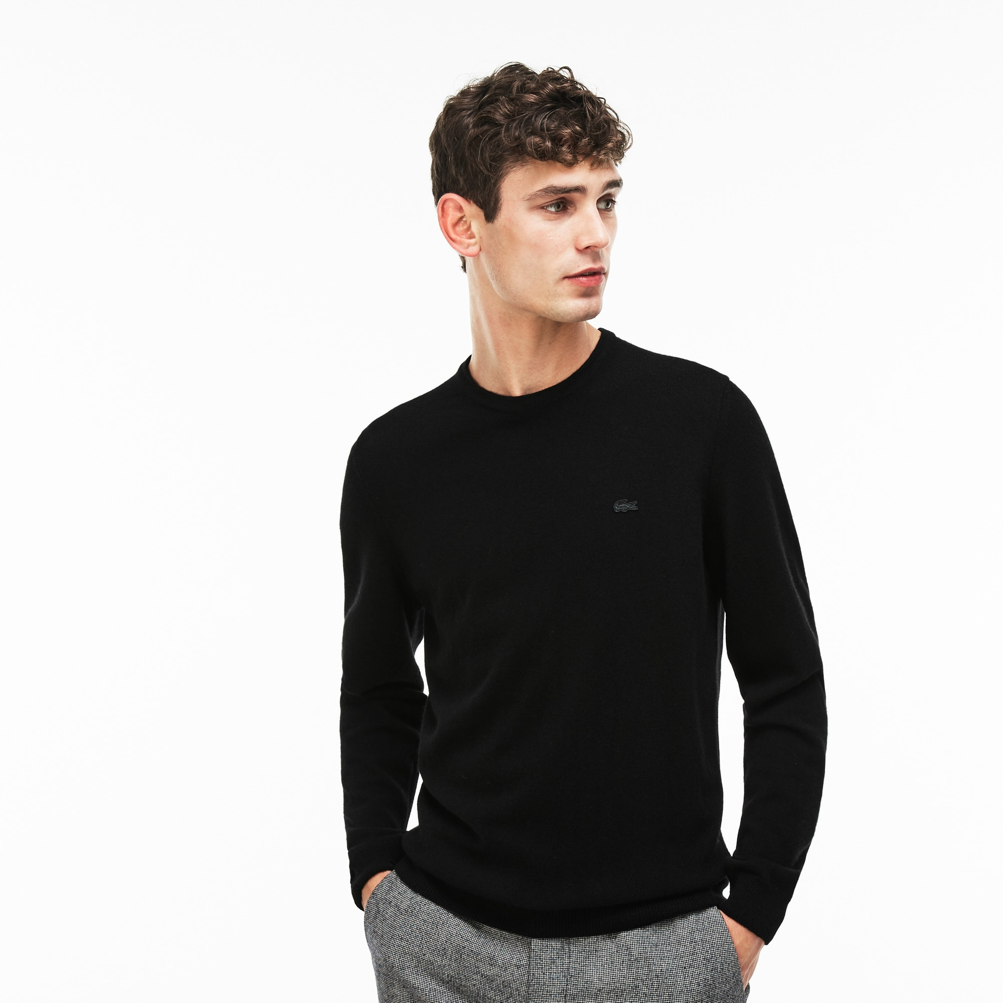 Men's Crew Neck Cashmere Jersey Sweater
