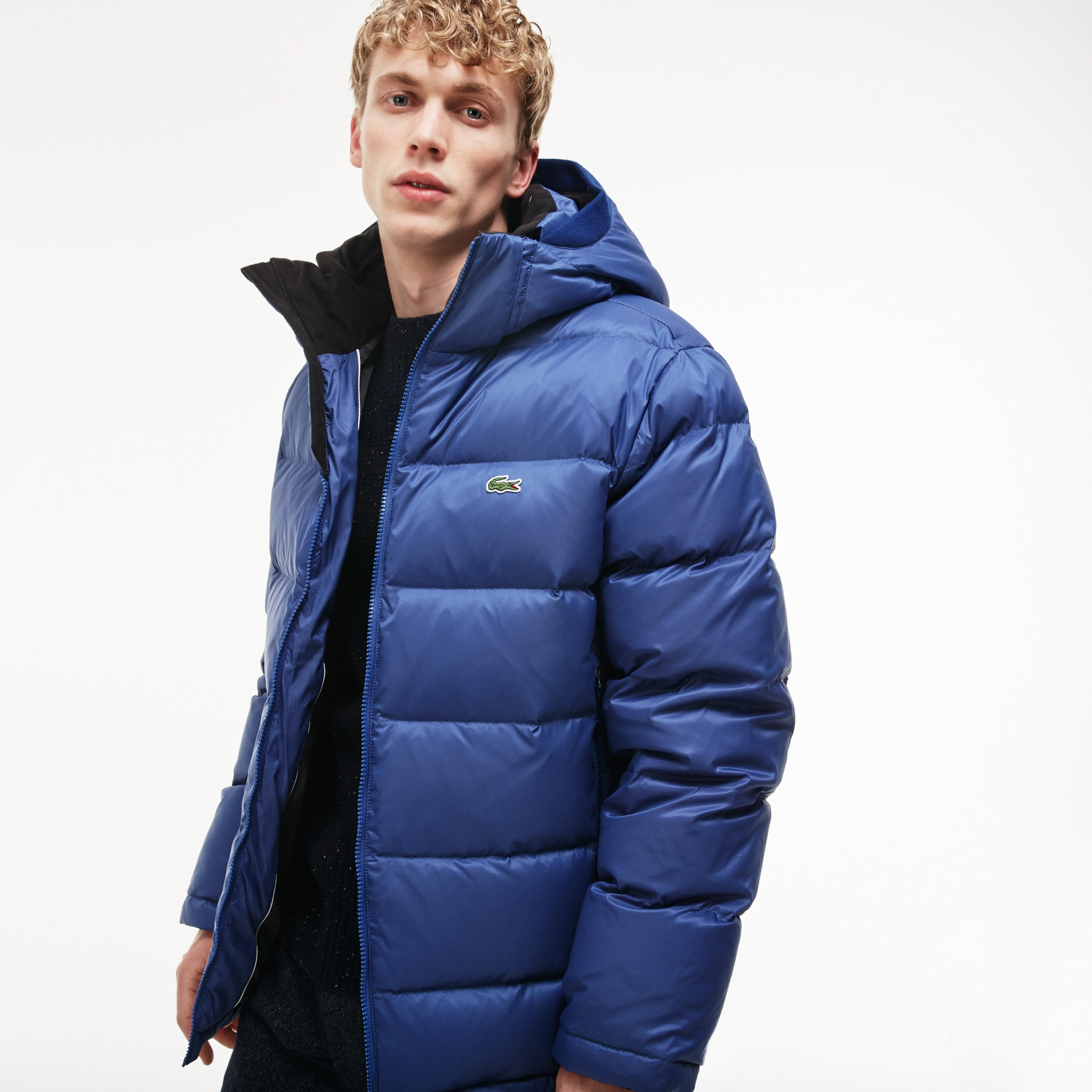 9bacbcaba4cc Men s Water-Resistant Quilted Hooded Short Puffy Down Jacket ...