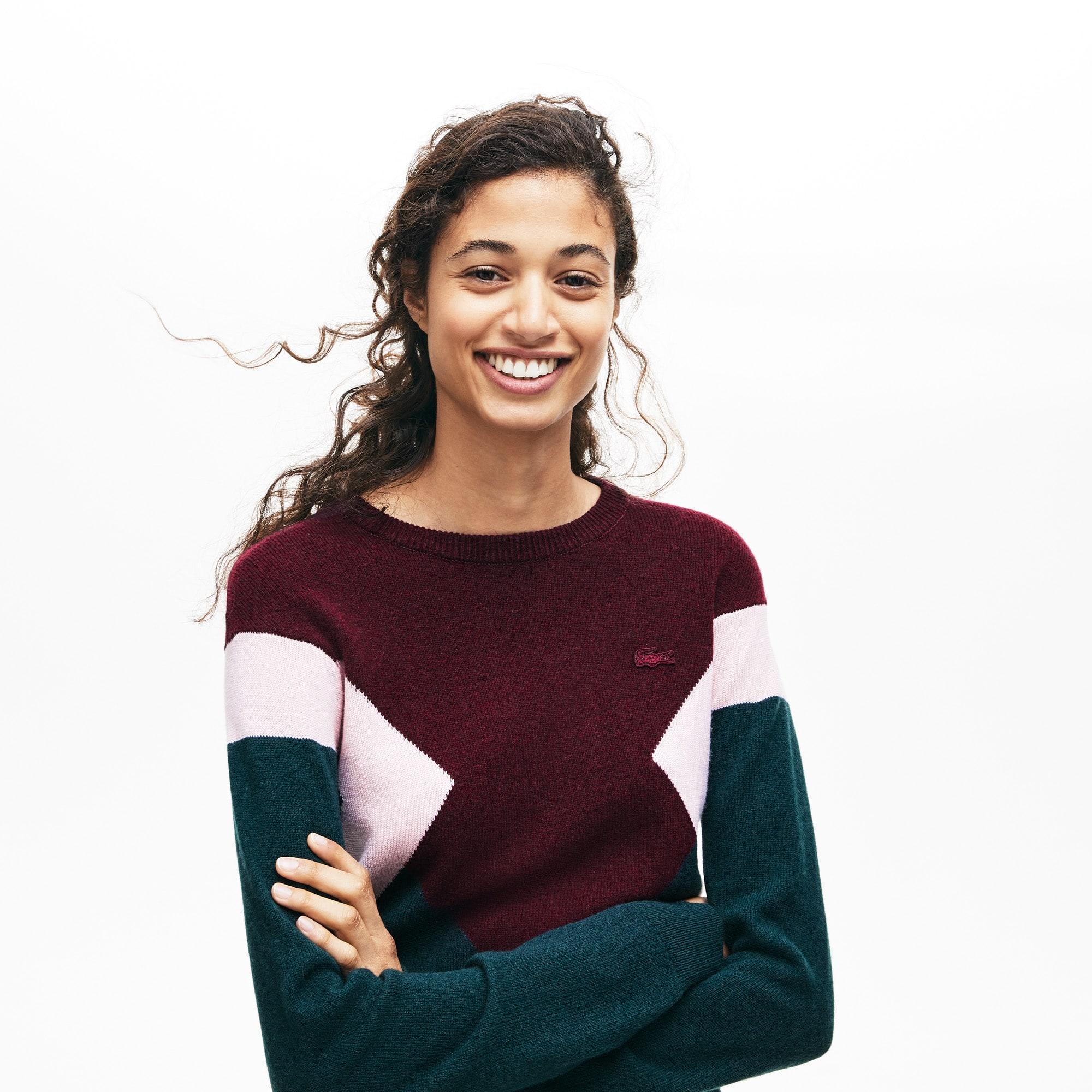 Lacoste Tops Women's Multi Color Design Sweater