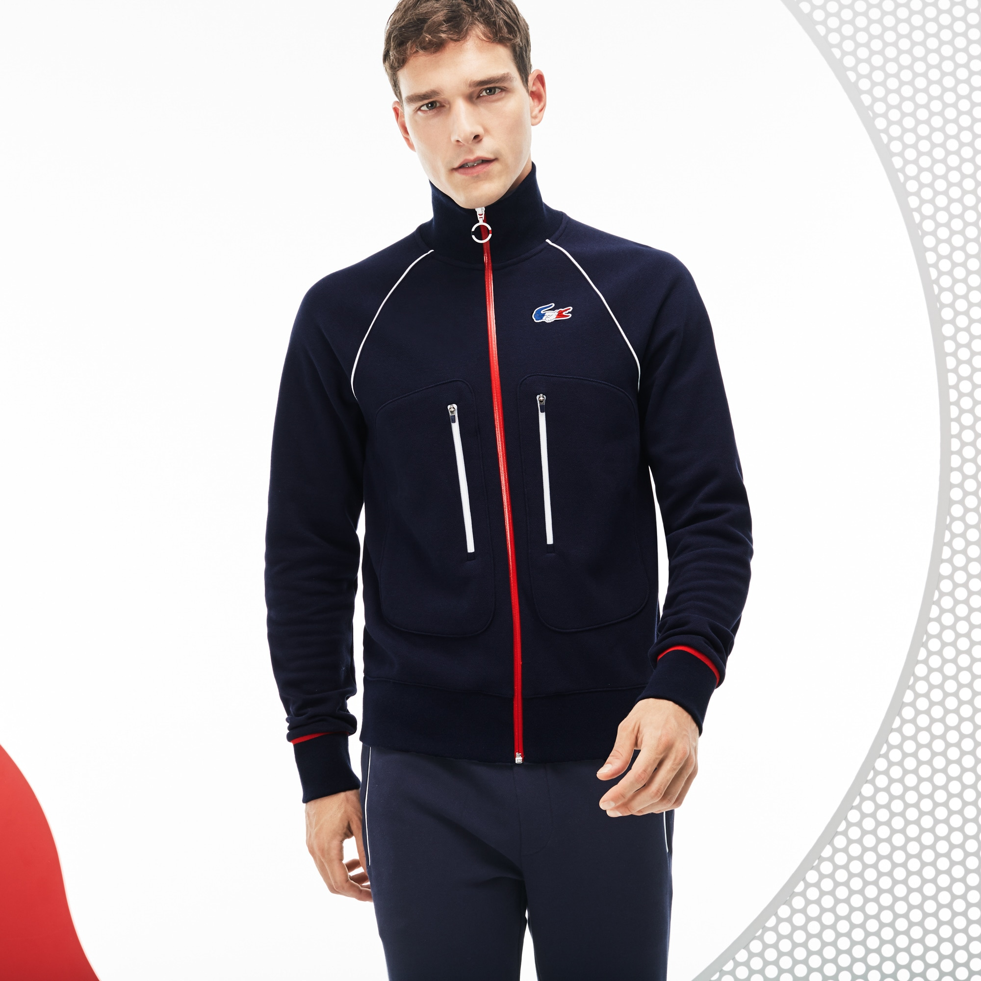 Men's French Sporting Spirit Edition Zippered Fleece Sweatshirt