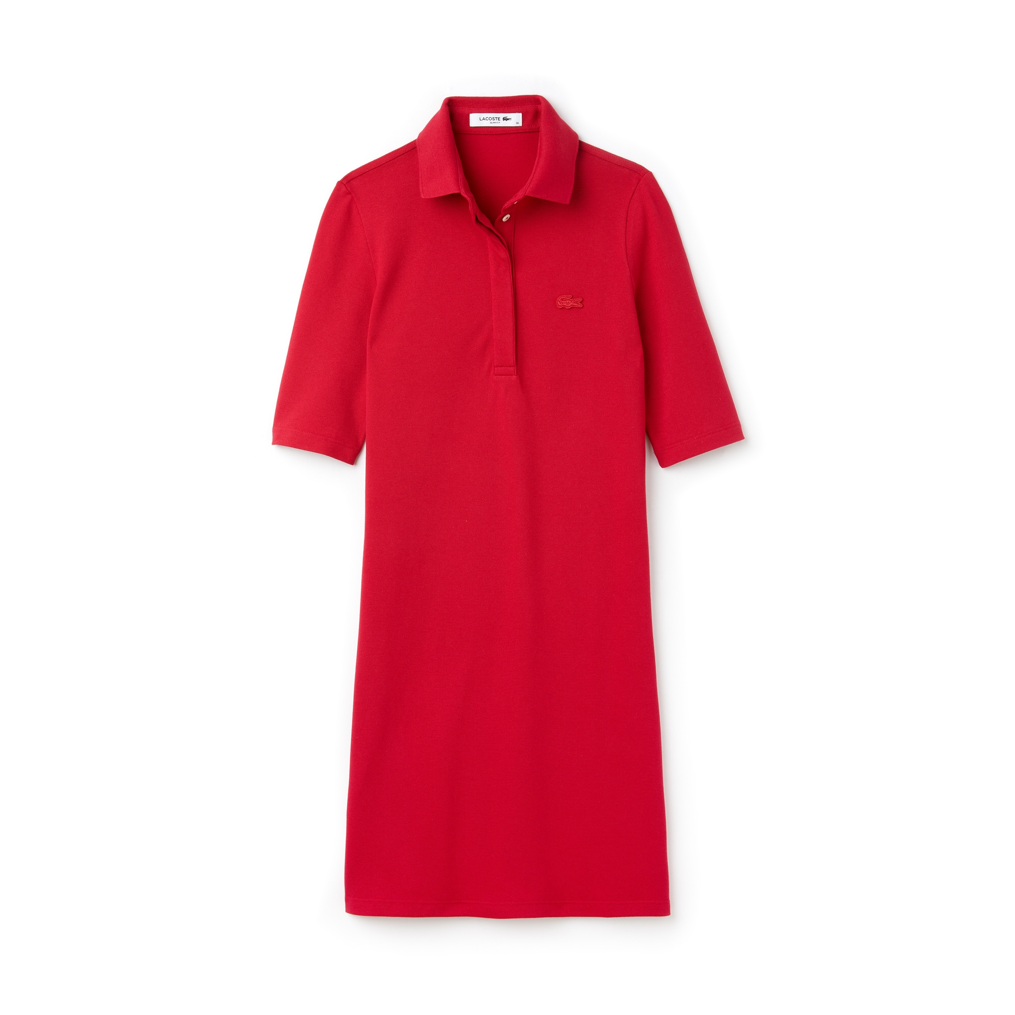 라코스테 피케 원피스 레드 Lacoste Womens Slim Fit Stretch Mini Pique Polo Dress,persian red