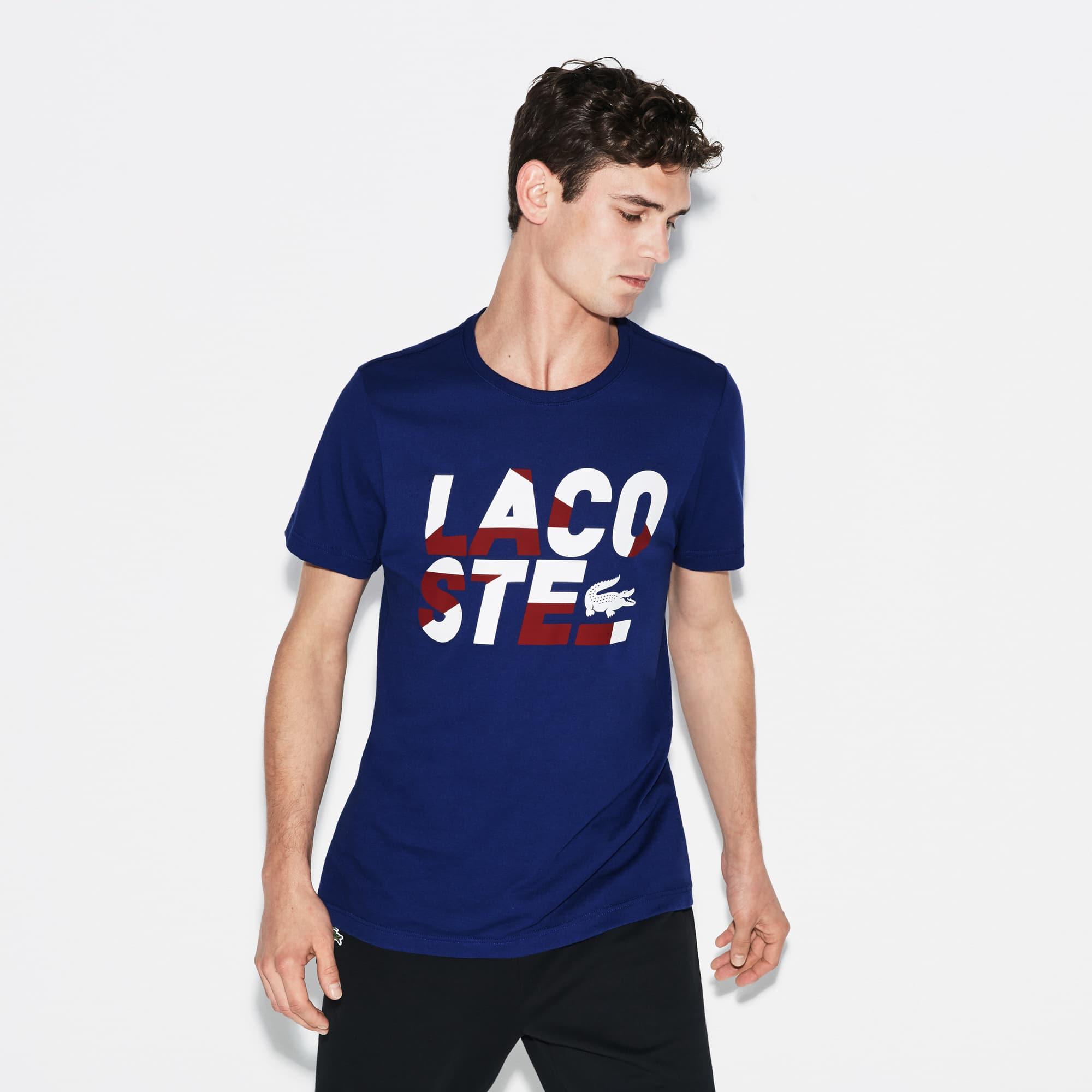 Men's SPORT Tennis Lettering Technical Jersey T-shirt