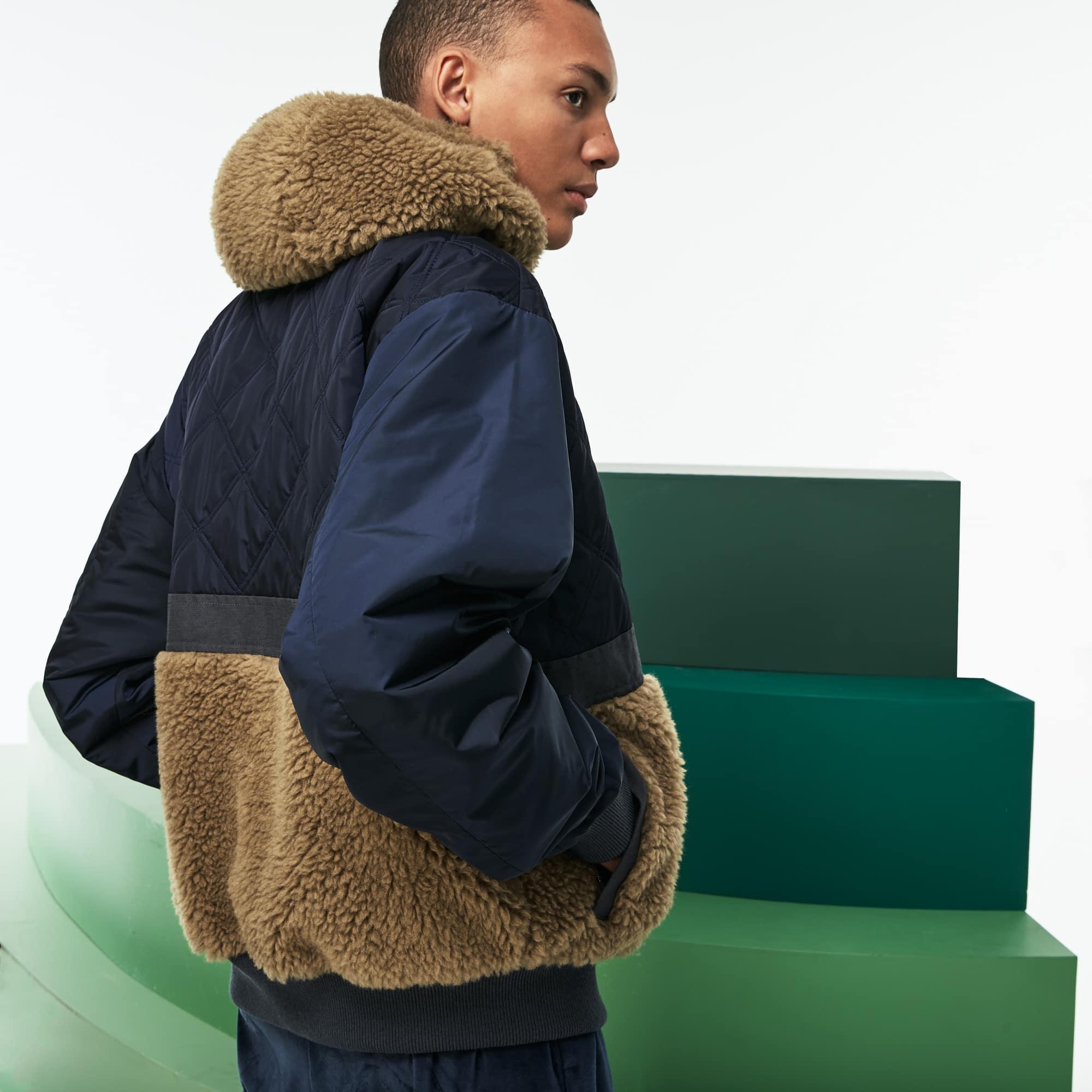 Men's Fashion Show Reversible Gabardine And Technical Canvas Jacket