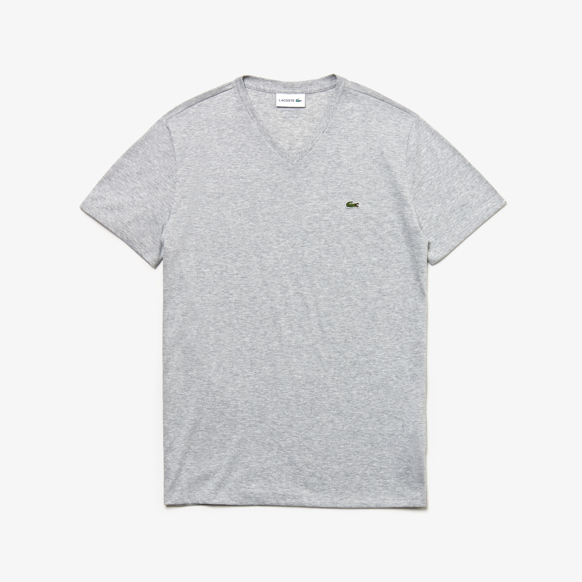 complete in specifications enjoy clearance price low price Men's V-neck Pima Cotton Jersey T-shirt | LACOSTE