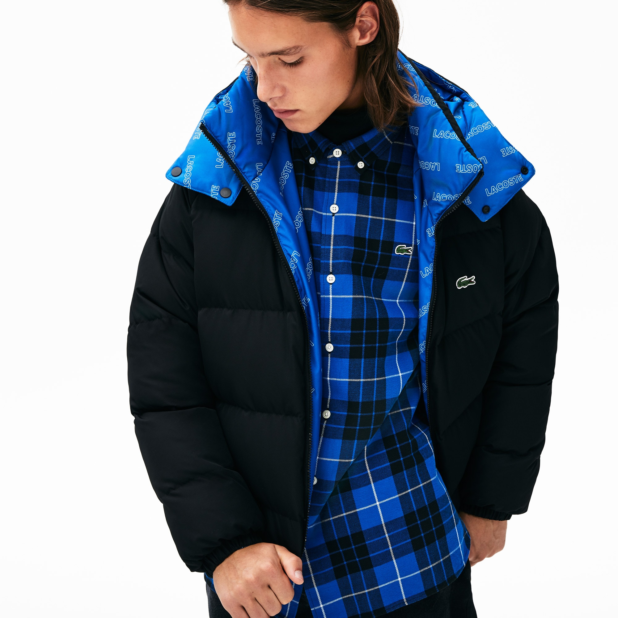 Men's LIVE Print-Lined Reversible Quilted Jacket