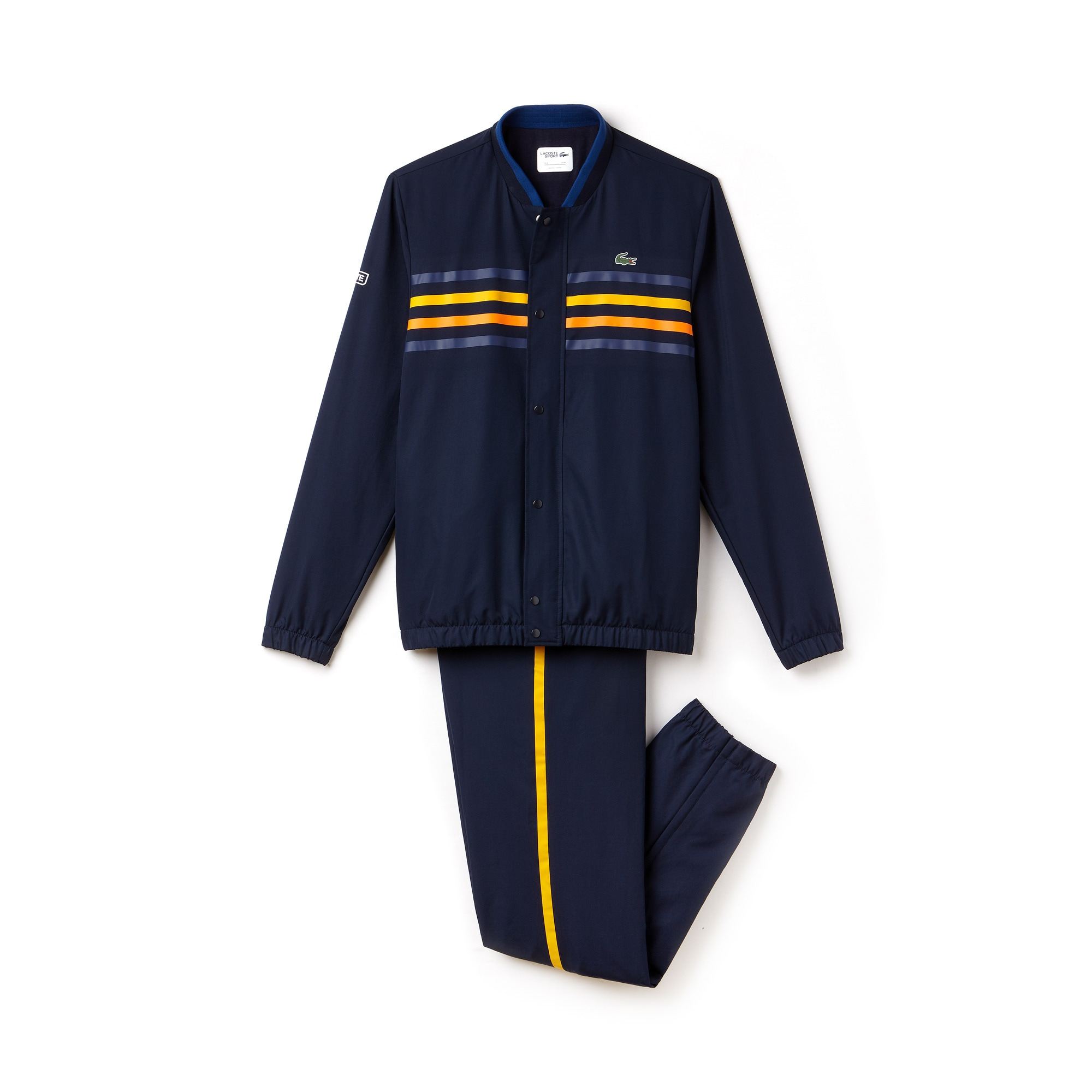 라코스테 스포츠 트랙 수트 Lacoste Mens SPORT Colored Bands Tennis Tracksuit,navy blue/marino-buttercu