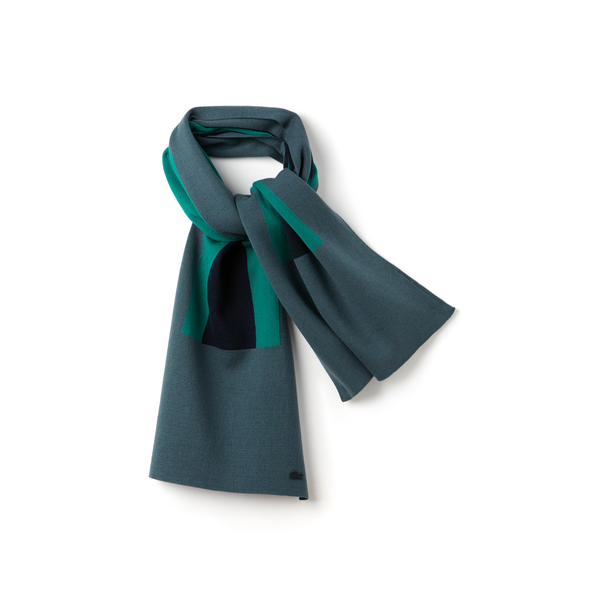 WOMEN'S WOOL AND COTTON COLOR BLOCK SCARF