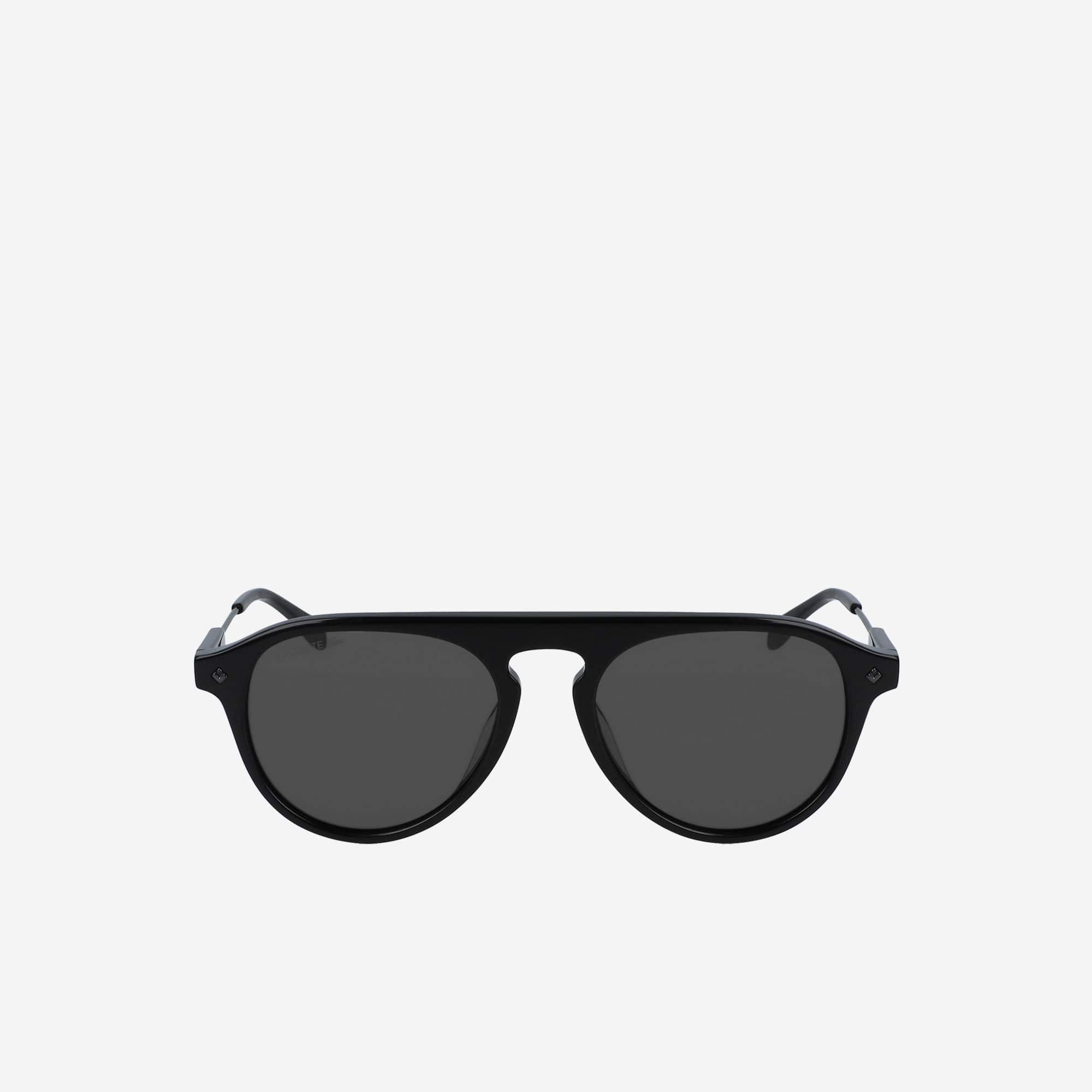 라코스테 선글라스 Lacoste Oval Acetate One Top Bridge Sunglasses