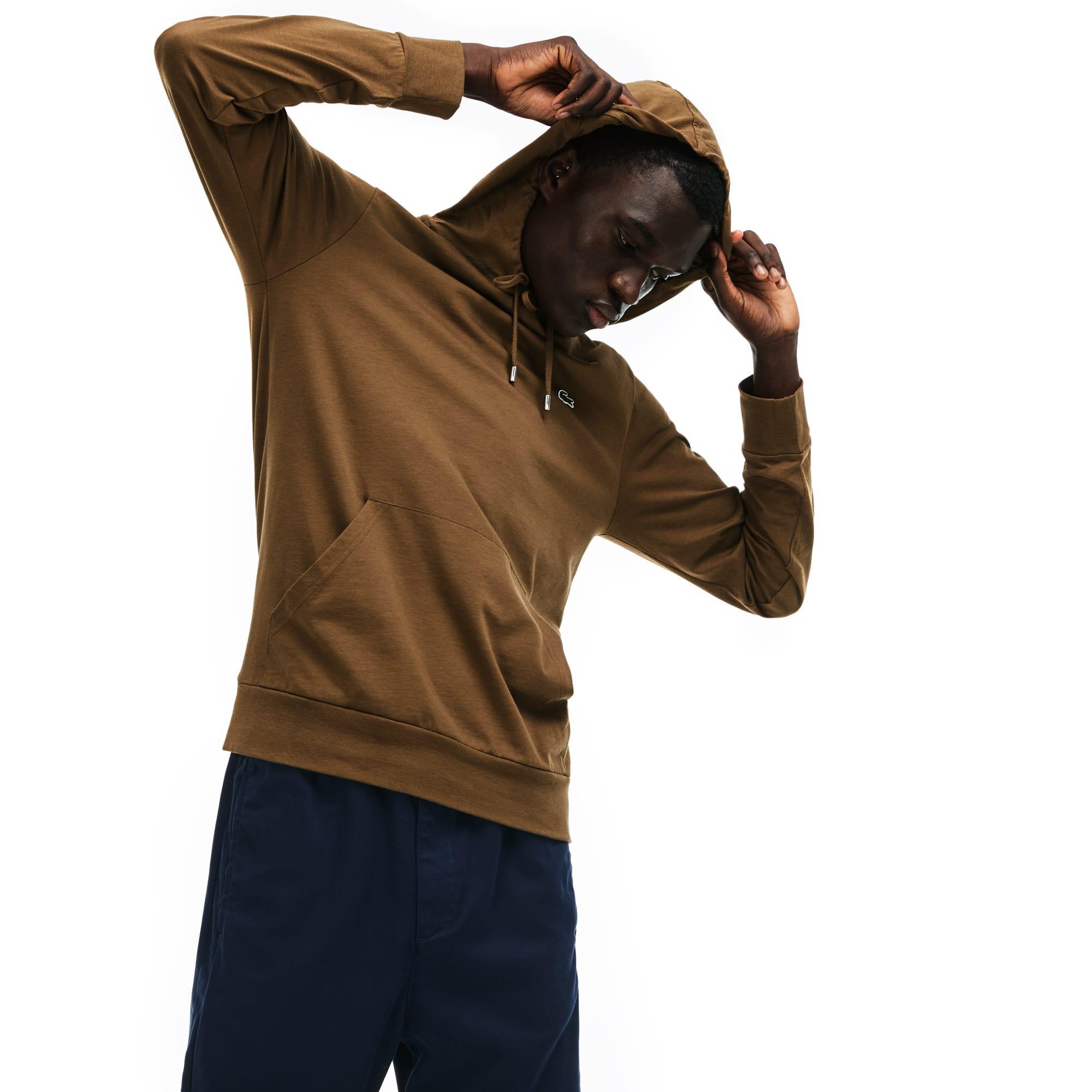 Men's Hooded Cotton Jersey Sweatshirt