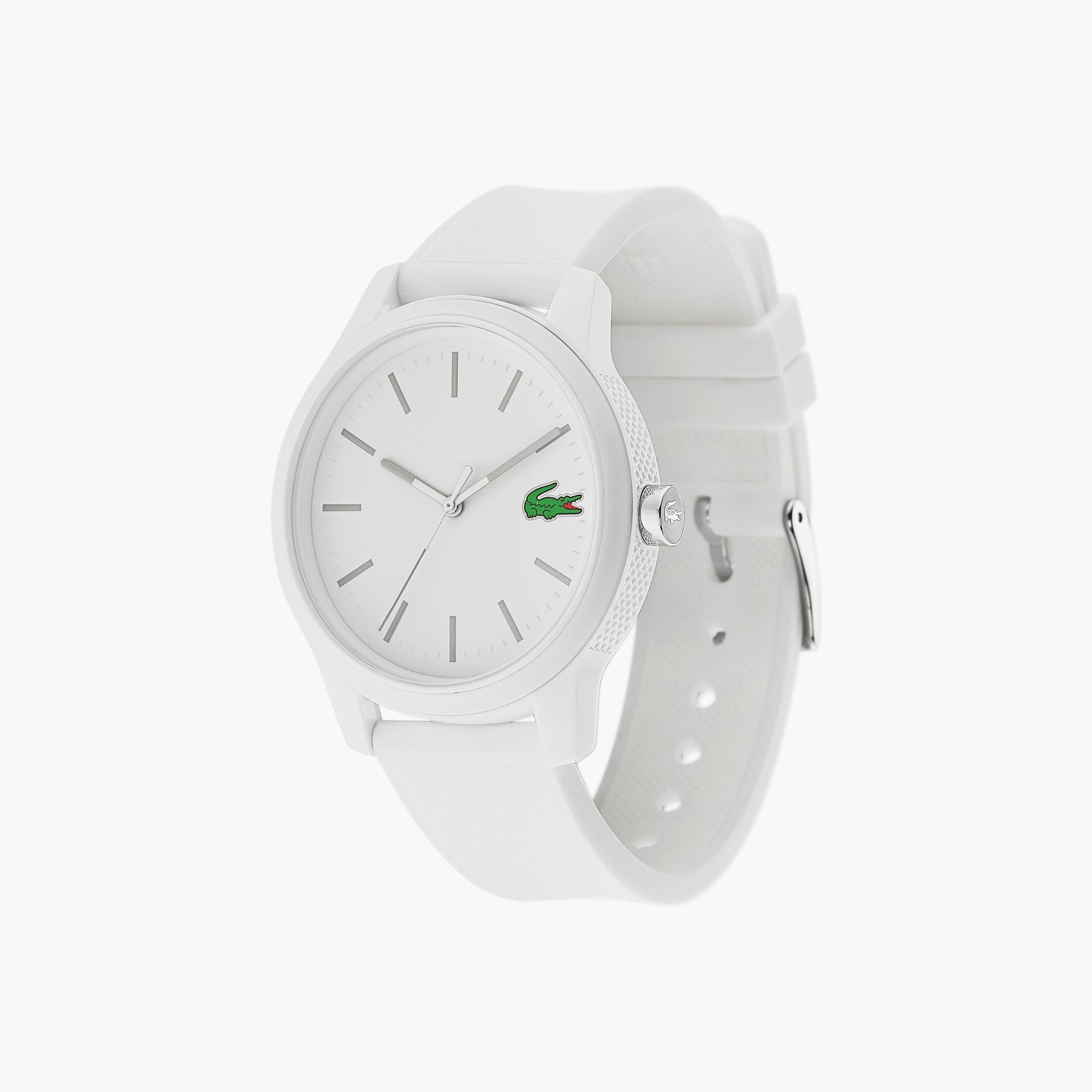 Men's Lacoste 12.12 Watch with White Silicone Strap