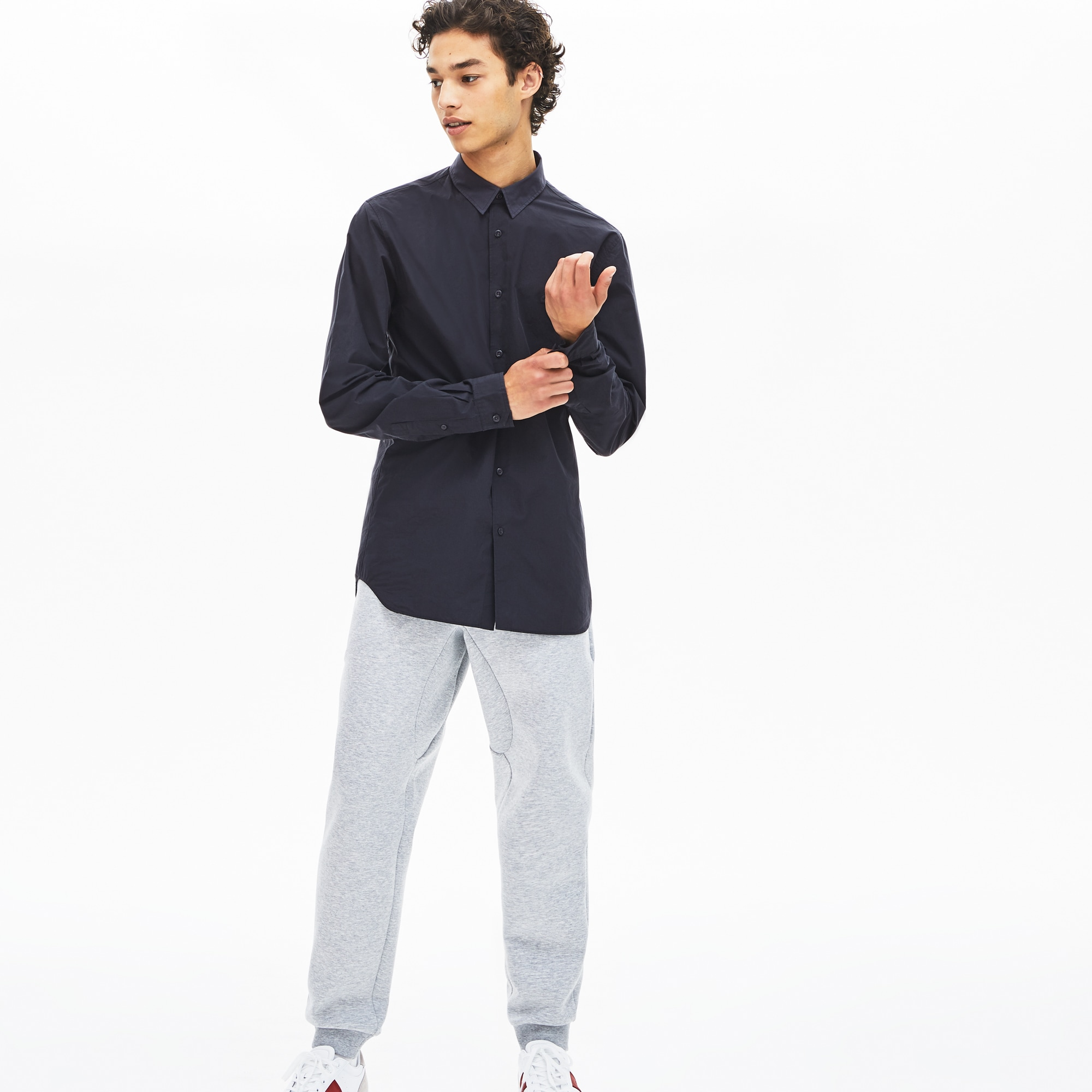 Men's Motion Ergonomic Paneled Stretch Cotton Shirt
