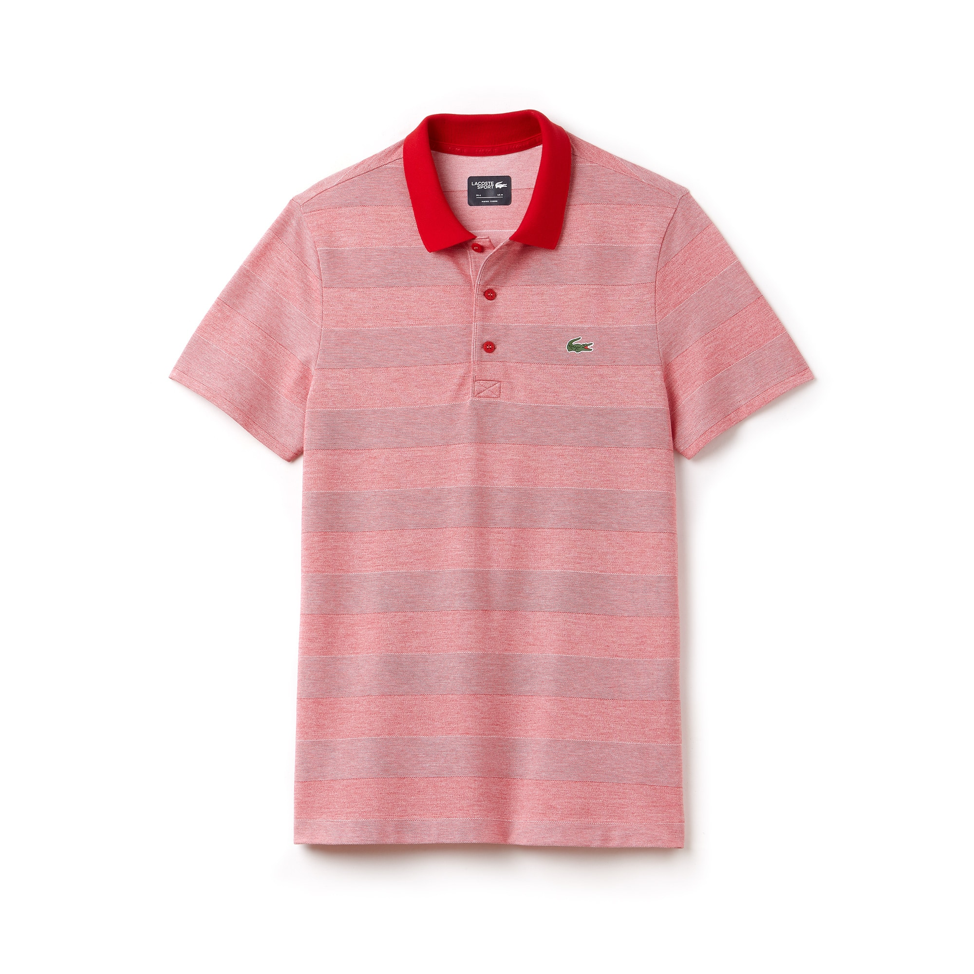 라코스테 Lacoste Mens SPORT Technical Jersey Golf Polo,rouge/blanc