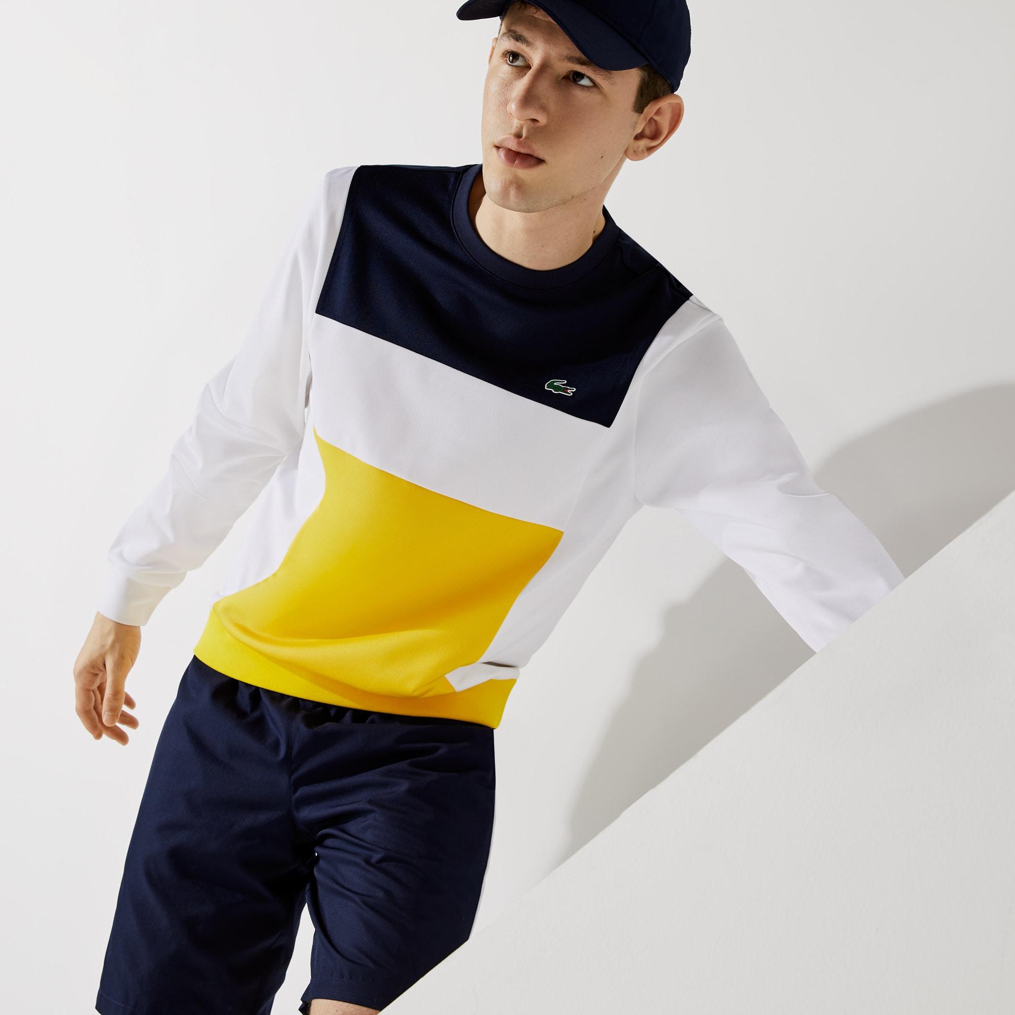 라코스테 맨 스포츠 맨투맨 Lacoste Men's SPORT Resistant Colorblock Pique Sweatshirt