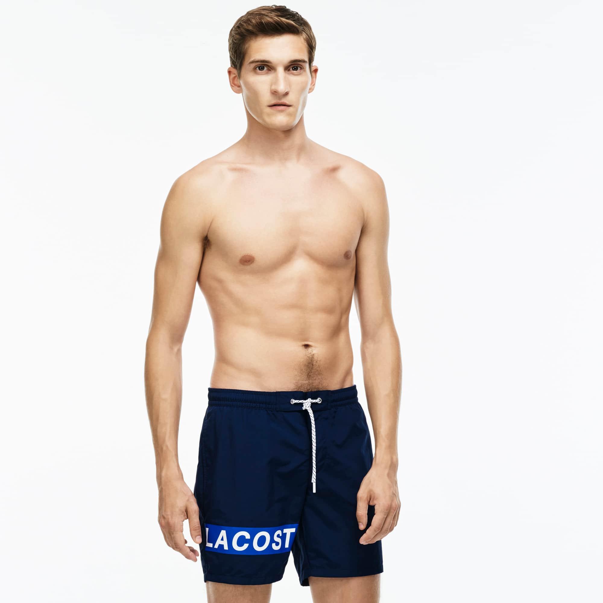 Men's Medium Cut Branded Swimming Trunks