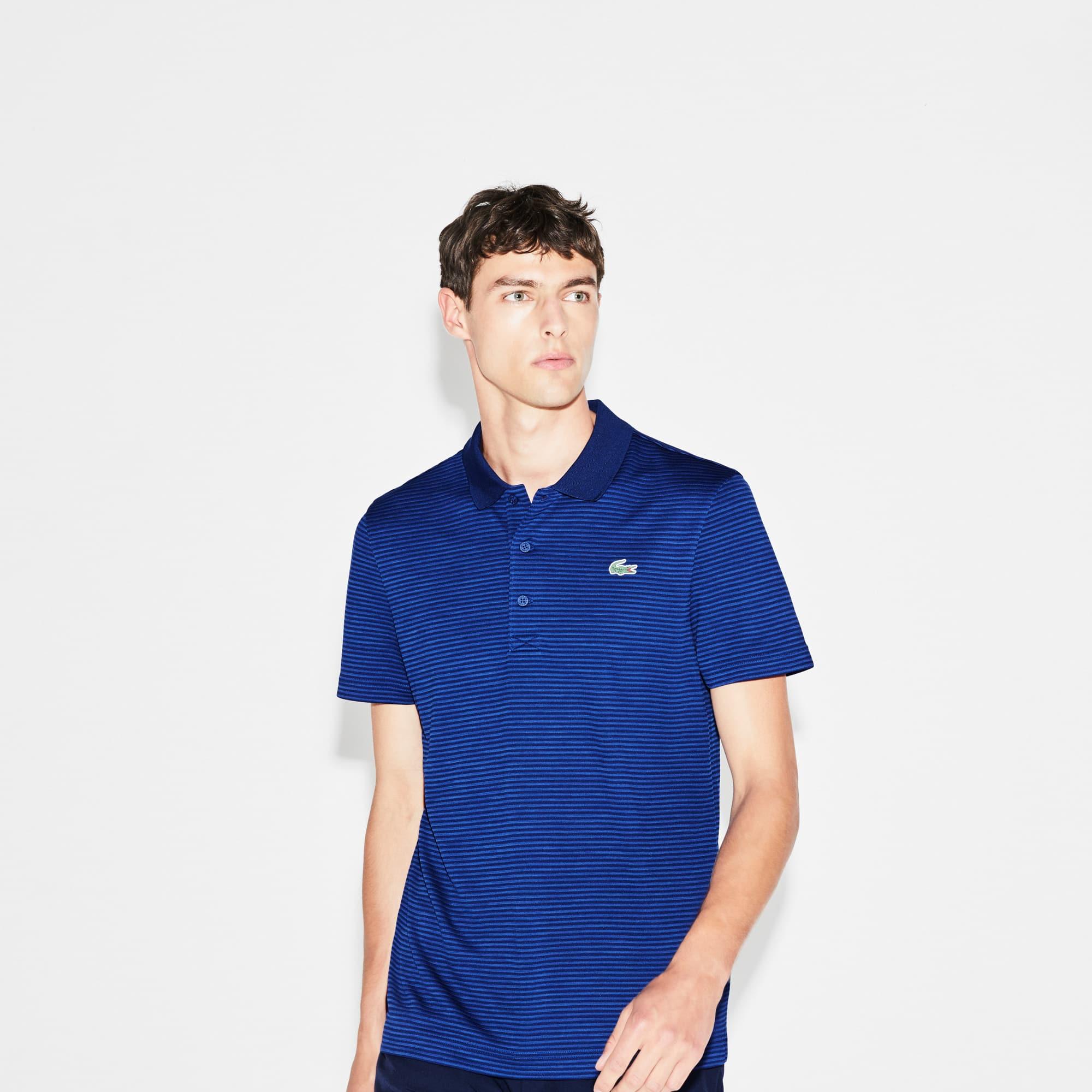 Men's  SPORT Golf Striped Tech Jersey Polo