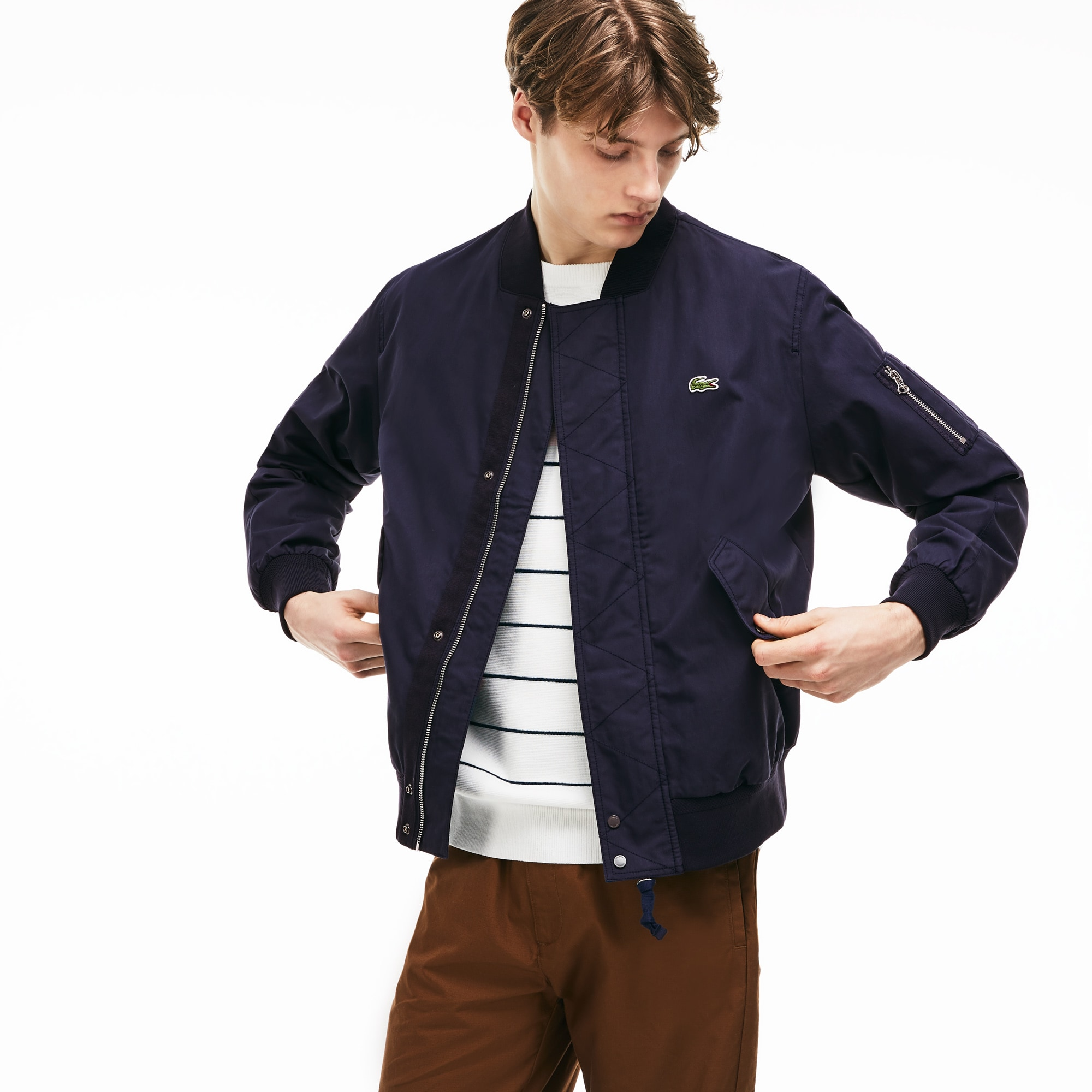 Men's Lightweight Texturized Bomber