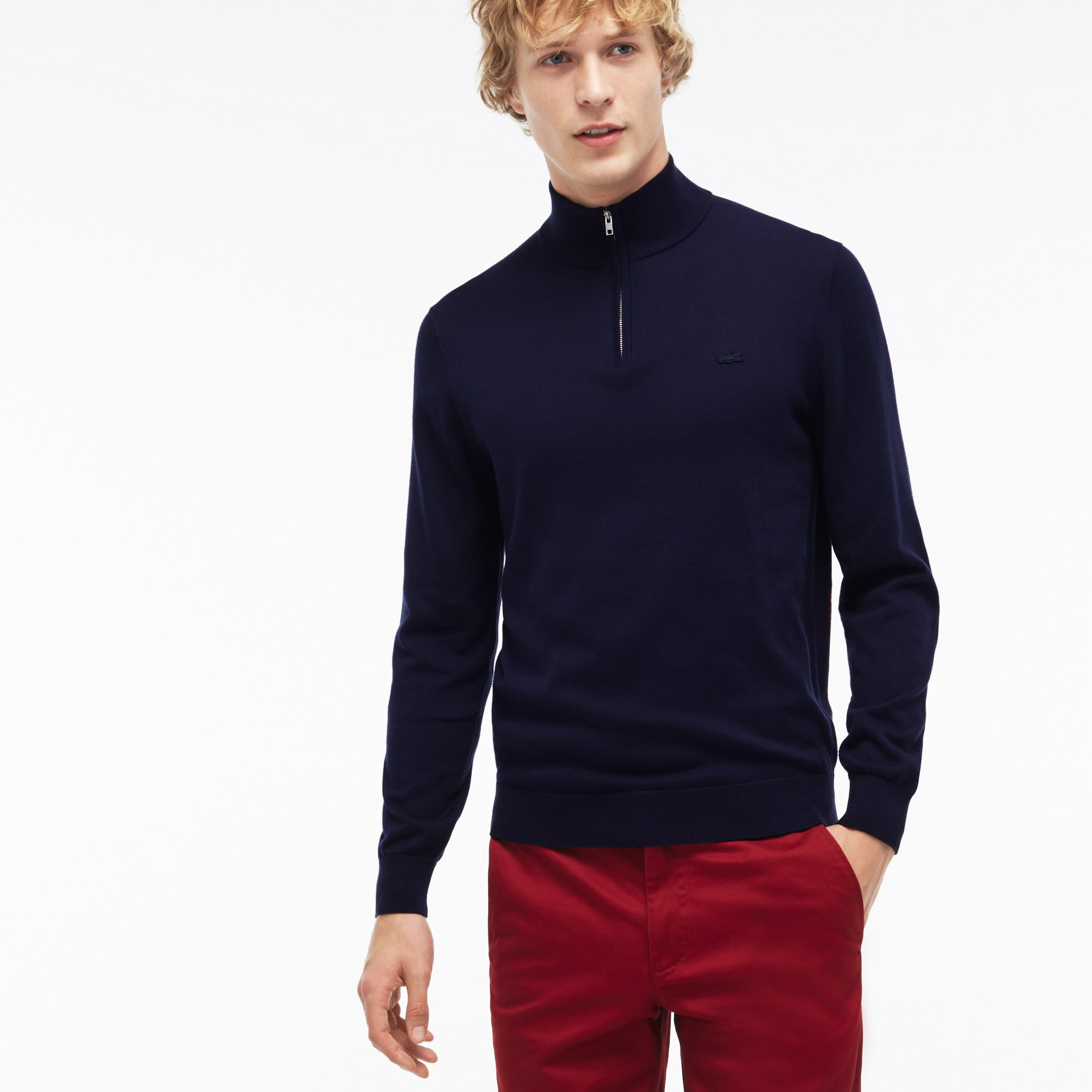 Men's Zip Jersey Sweater