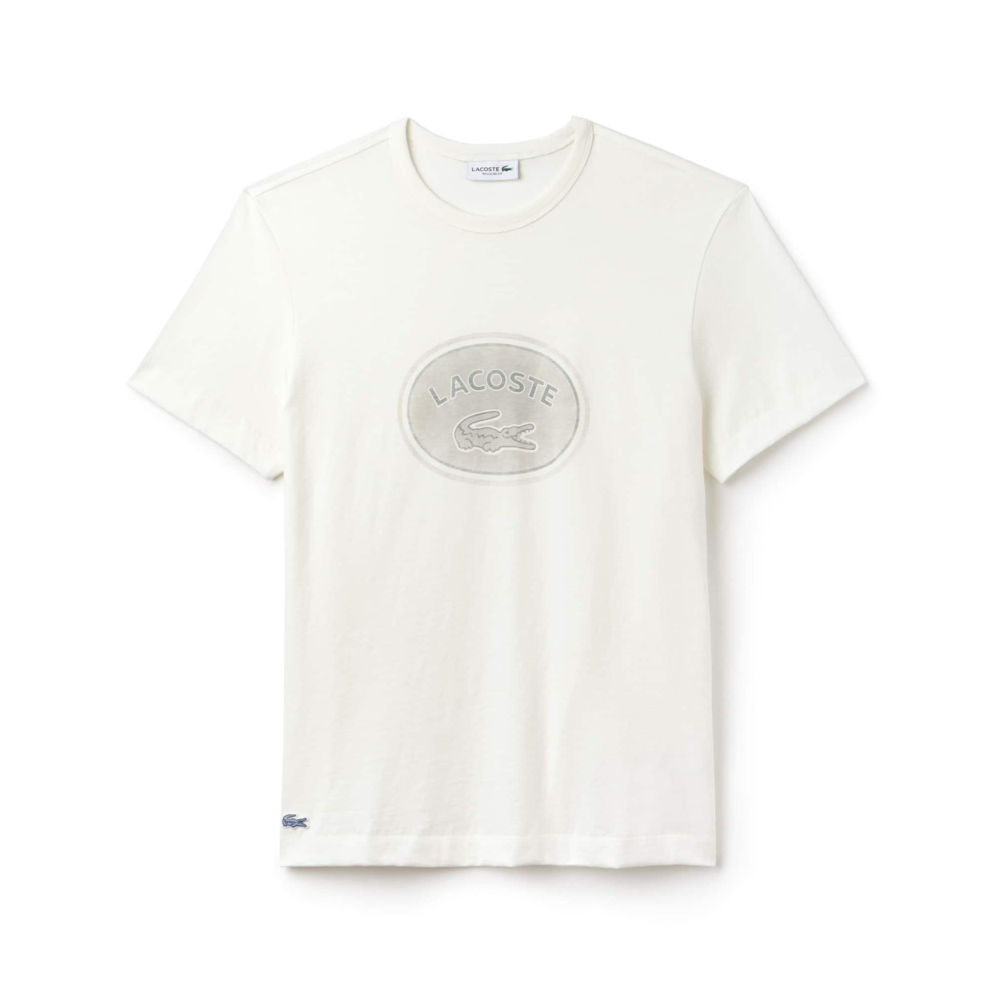 Men's Crew Neck Oversized Badge Cotton Jersey T-Shirt