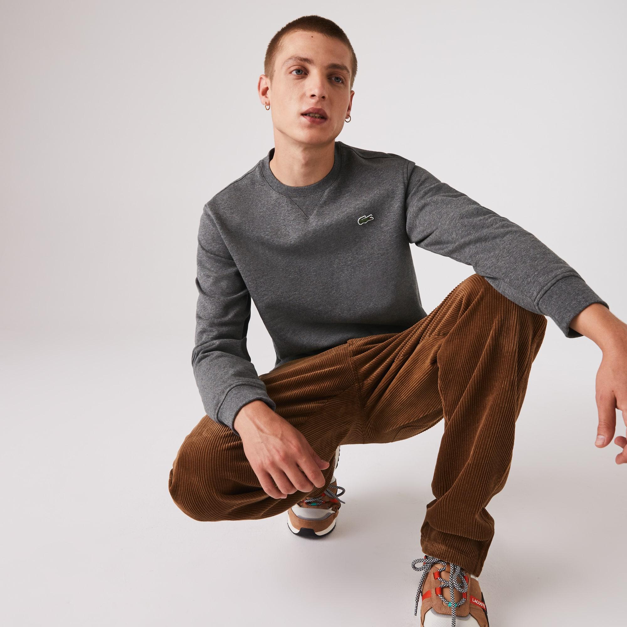 라코스테 스포츠 맨투맨 Mens Lacoste SPORT Cotton Blend Fleece Sweatshirt