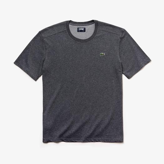 라코스테 스포츠 티셔츠 Lacoste Mens SPORT Breathable T-shirt,Grey Chine