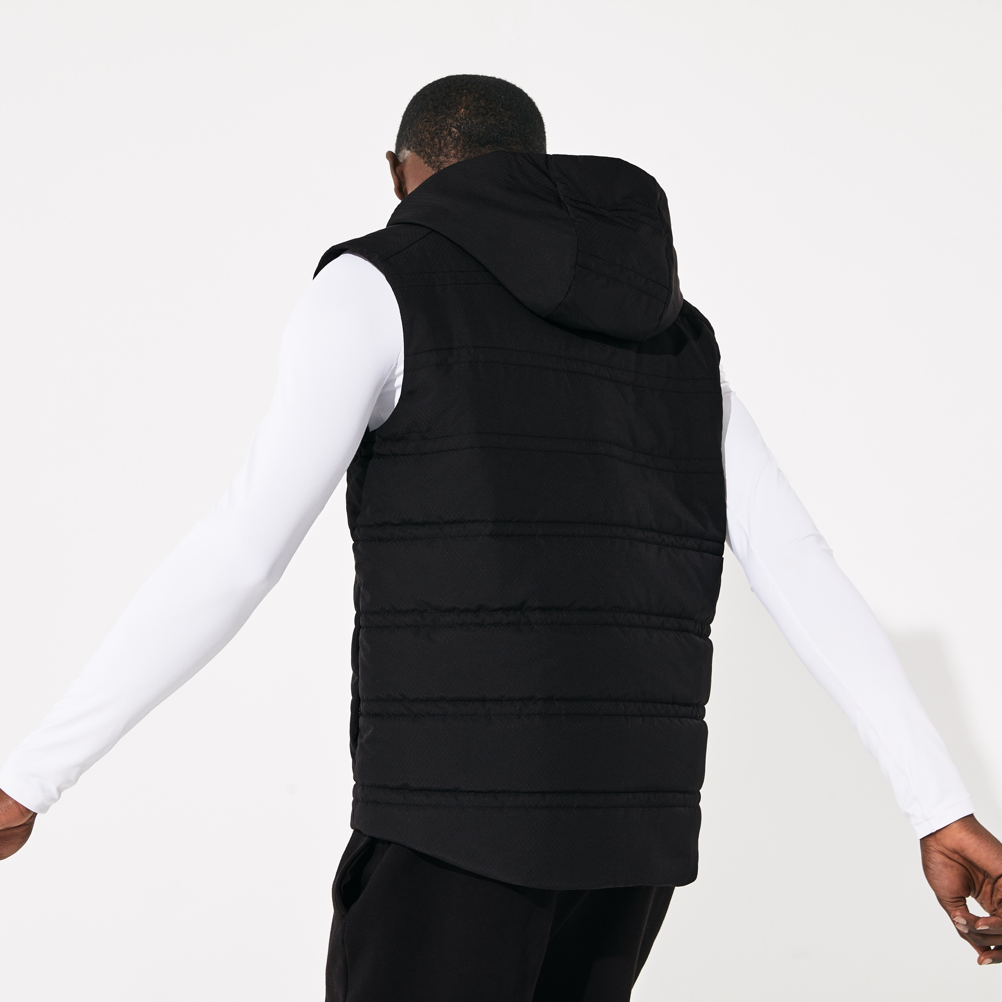 Men's SPORT Hooded Quilted Rain Vest