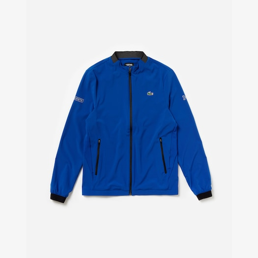 라코스테 Lacoste Mens SPORT Novak Djokovic Collection Ultra Light Technical Jacket,Blue / Black / White - TGU (Selected colour)