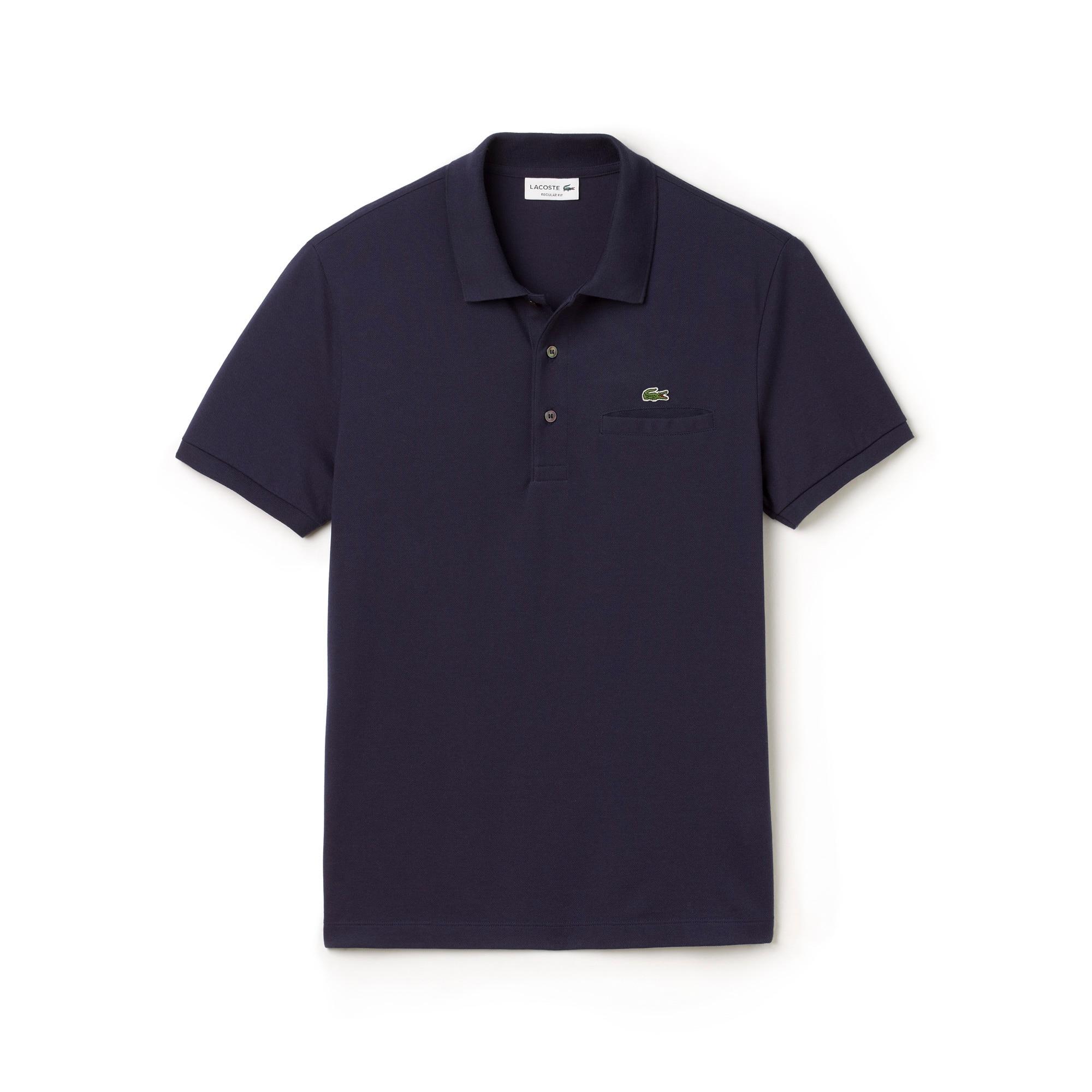 라코스테 Lacoste Mens Regular Fit Polo,navy blue