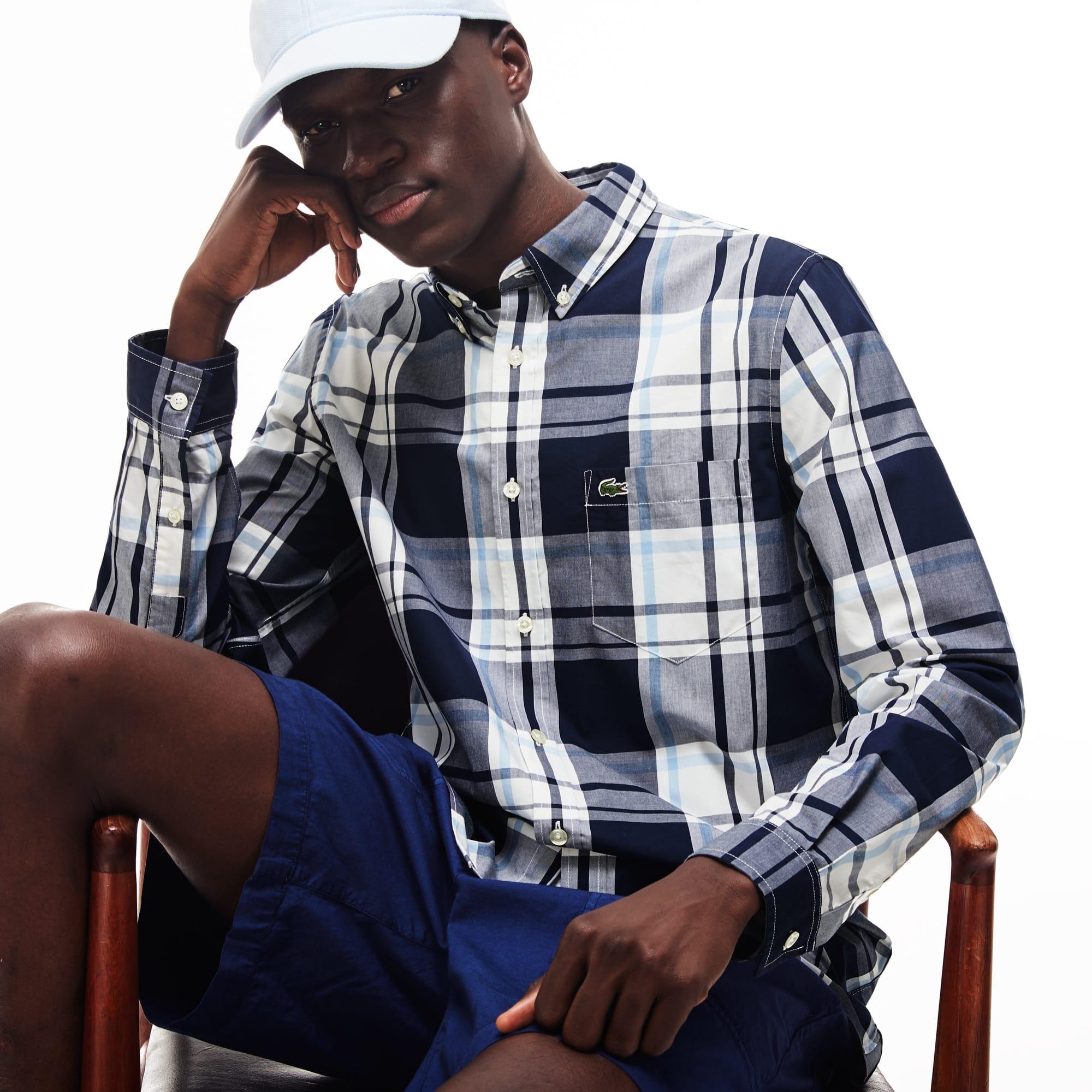 Men's Slim Fit Cotton Poplin Shirt