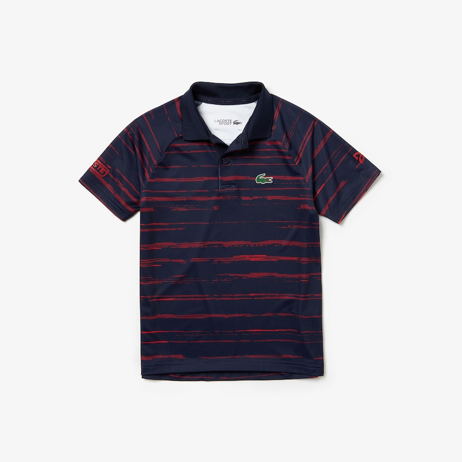 Boys' SPORT Novak Djokovic Striped Jersey Polo