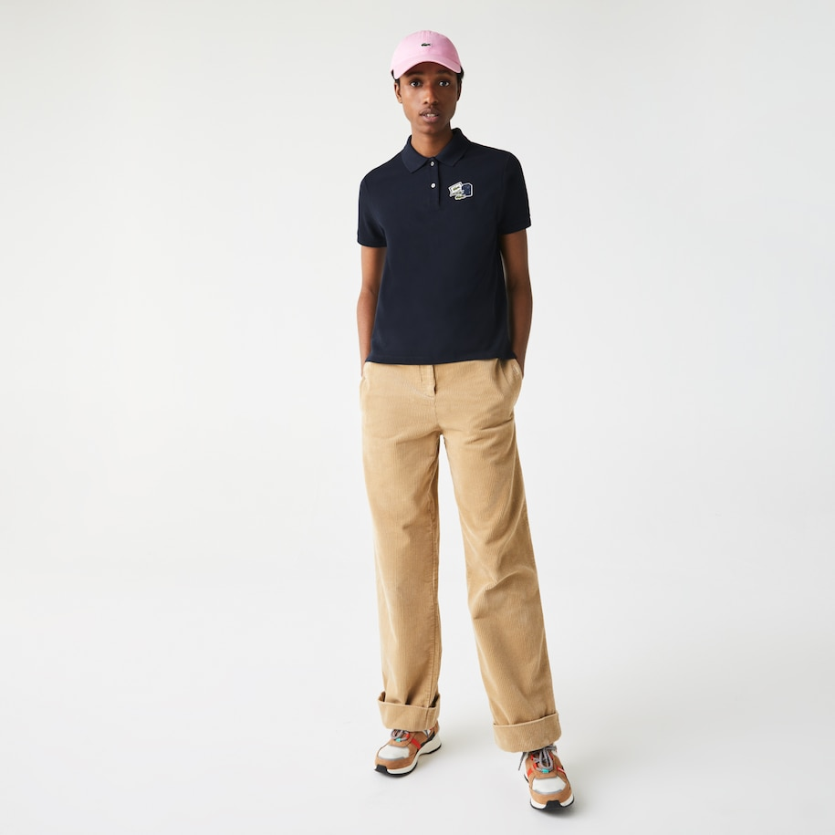 Women's Lacoste Regular Fit Cotton Piqué Polo Shirt